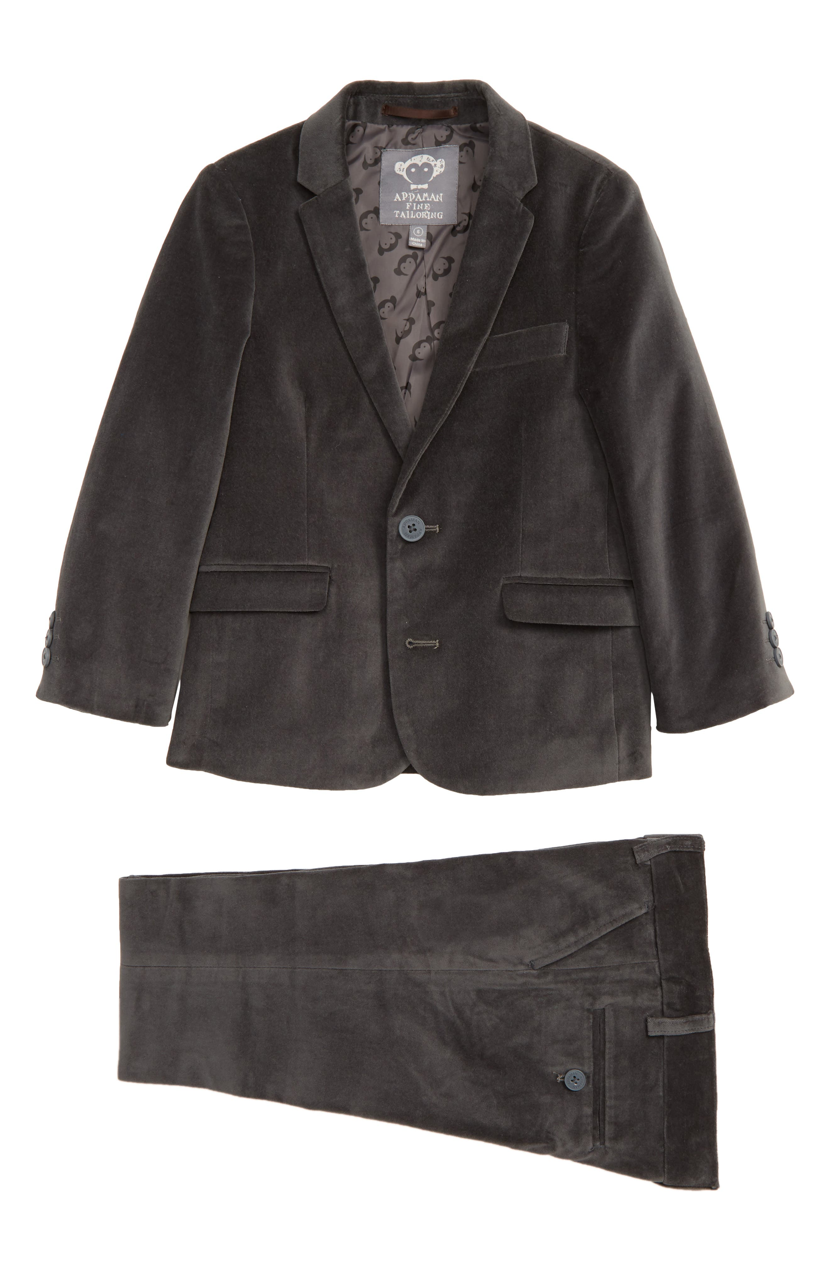 Mod Velvet Suit,                         Main,                         color, VINTAGE BLACK VELVET
