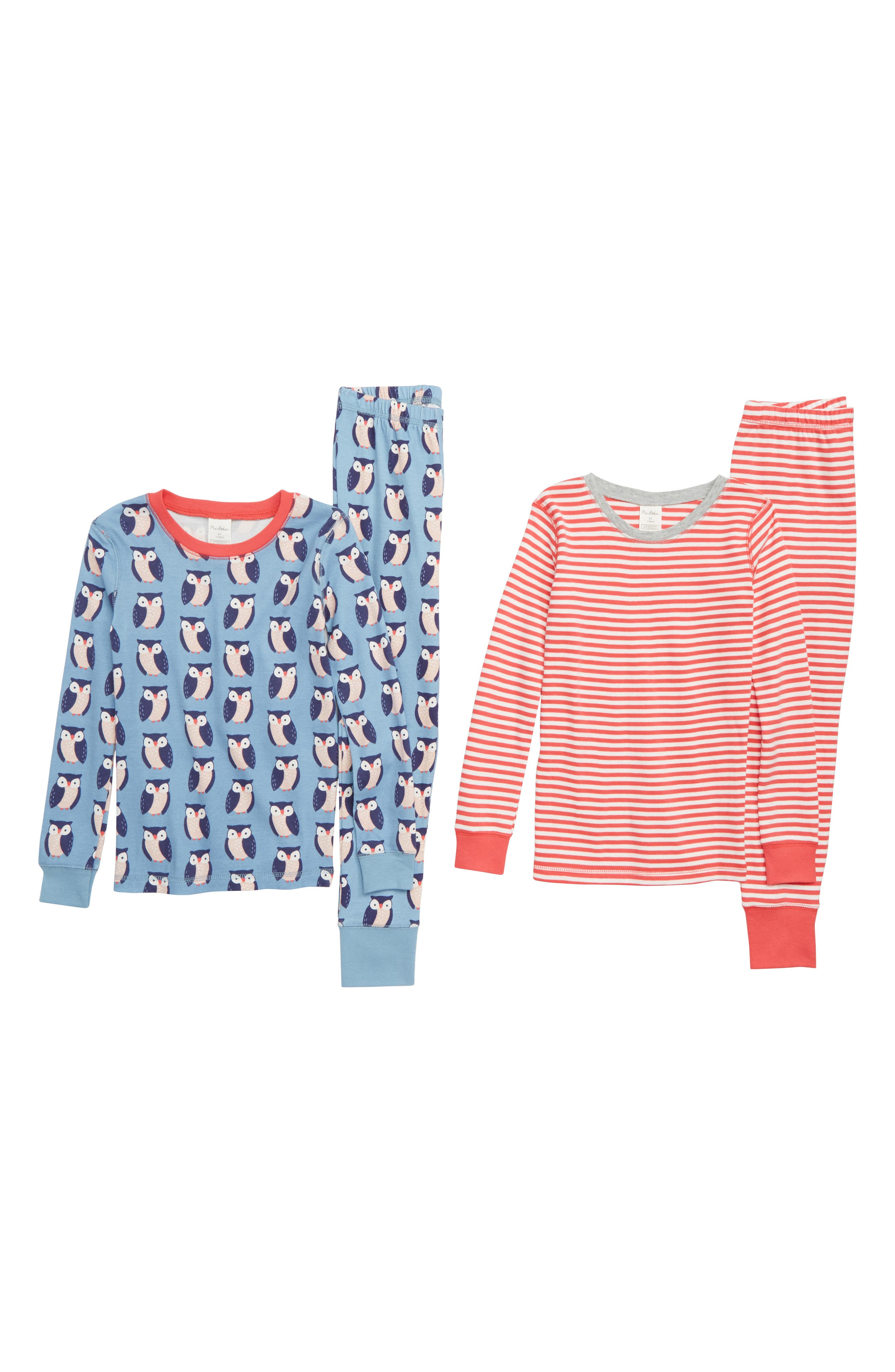 MINI BODEN 2-Pack Fitted Two-Piece Pajamas, Main, color, 424