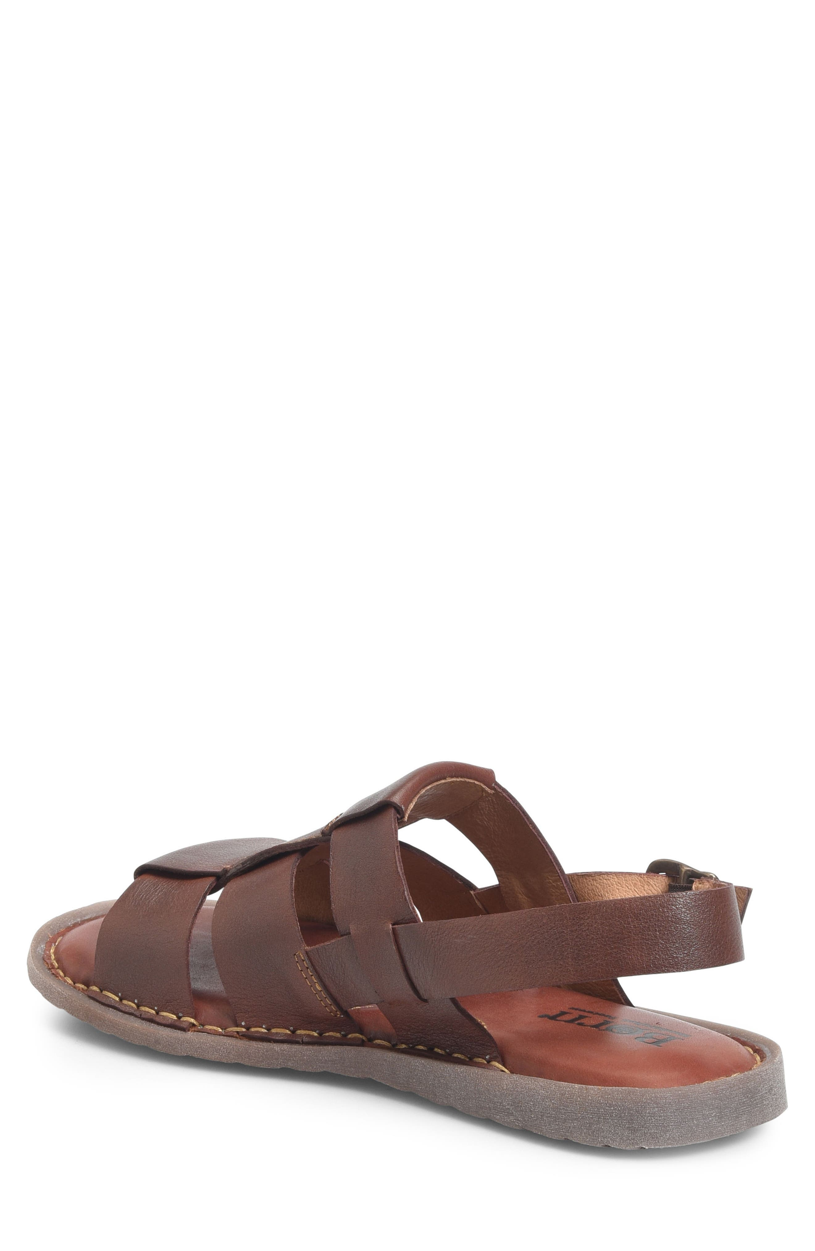 Surf Fisherman Sandal,                             Alternate thumbnail 2, color,                             BROWN LEATHER