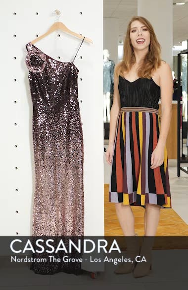 One-Shoulder Sequin Gown, sales video thumbnail
