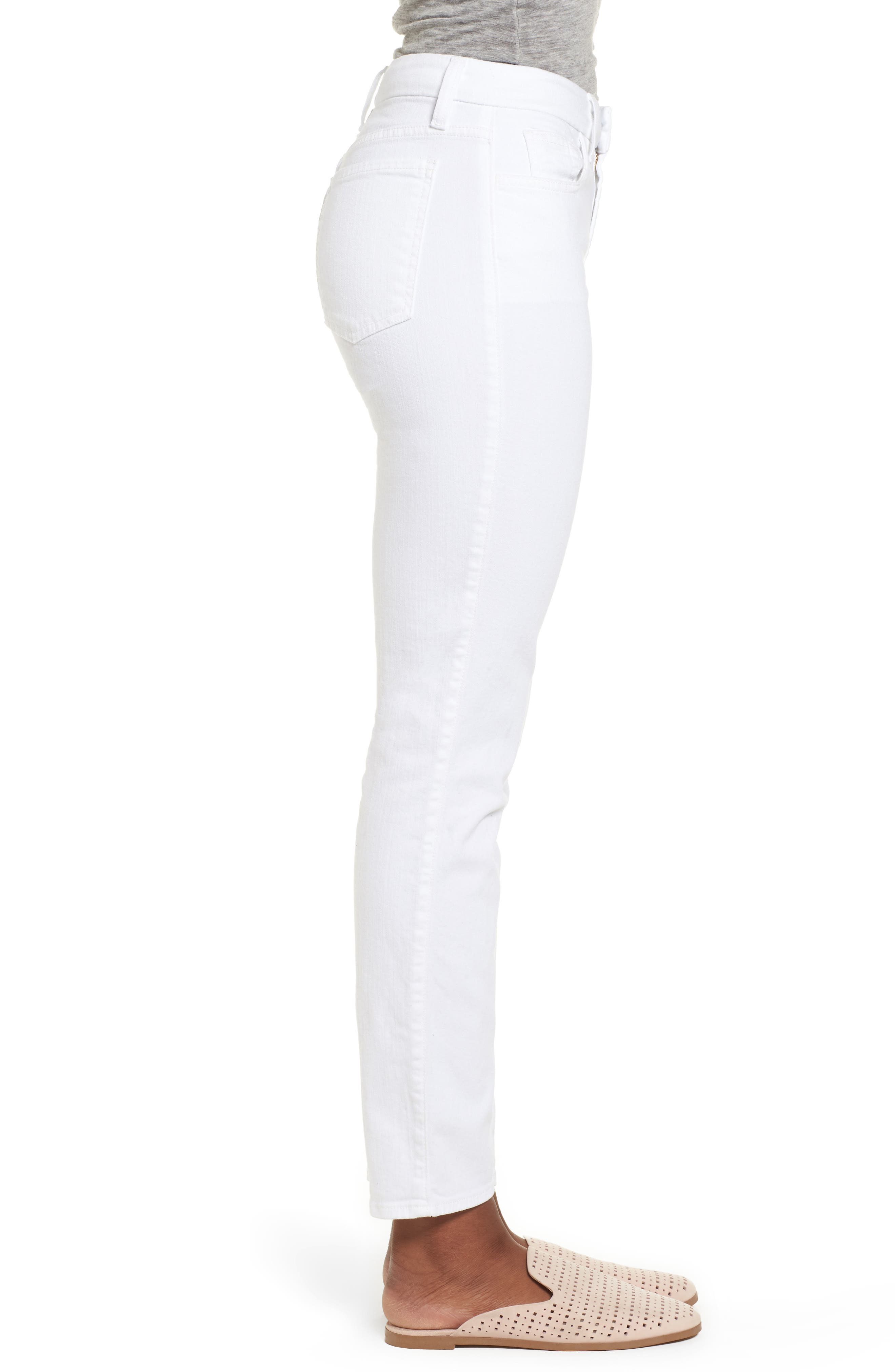 Ankle Skinny Jeans,                             Alternate thumbnail 3, color,                             WHITE FASION