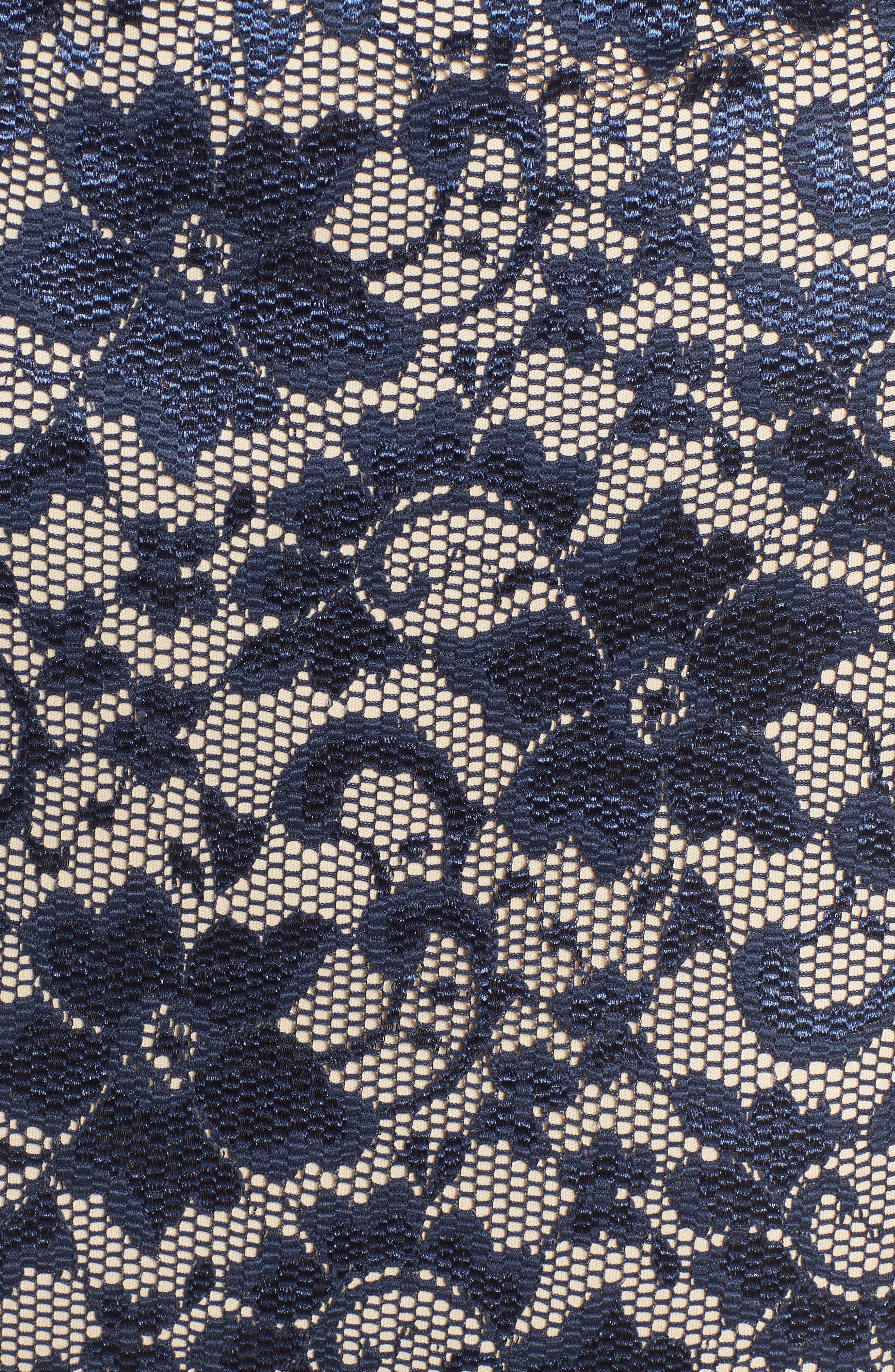 Lace Cold Shoulder Body-Con Dress,                             Alternate thumbnail 5, color,                             400