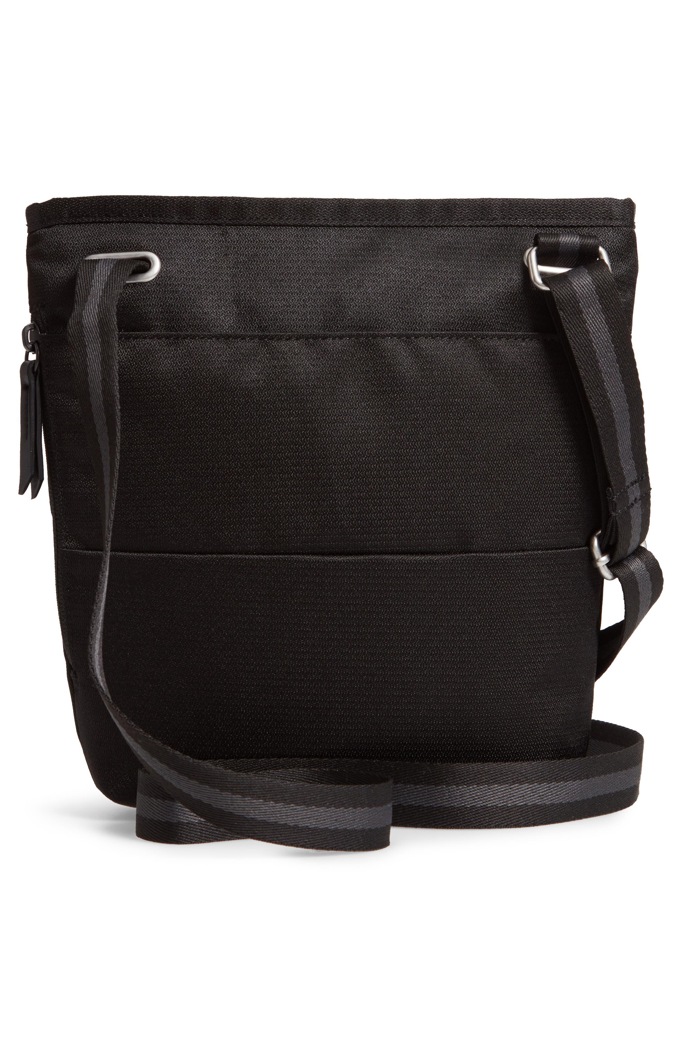Sadie Medium RFID Crossbody Bag,                             Alternate thumbnail 3, color,                             BLACK/ BLACK