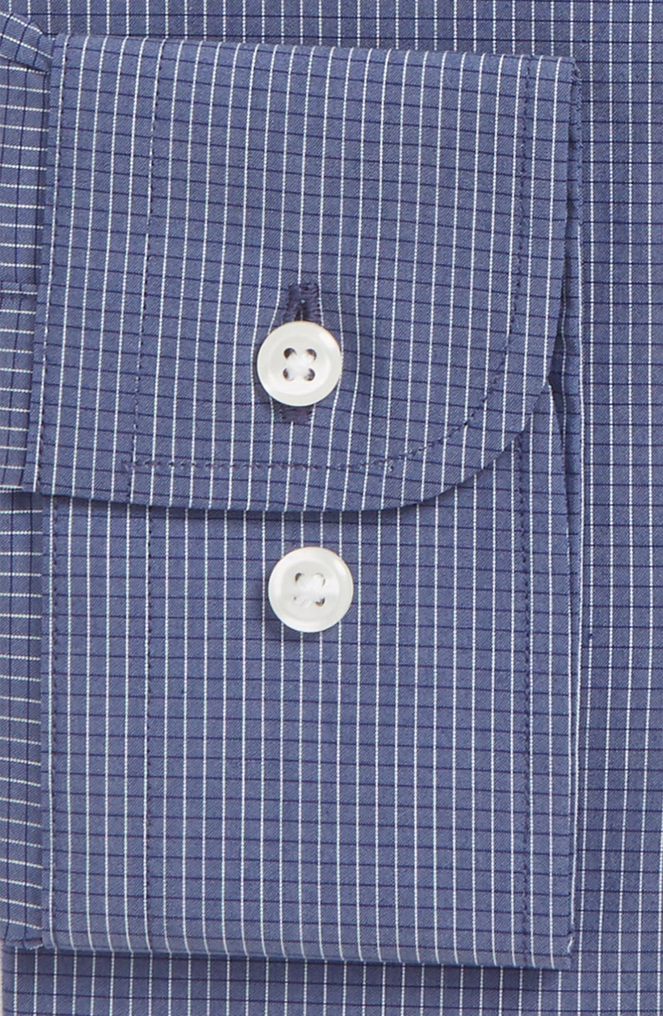 Traditional Fit Stretch Check Dress Shirt,                             Alternate thumbnail 11, color,