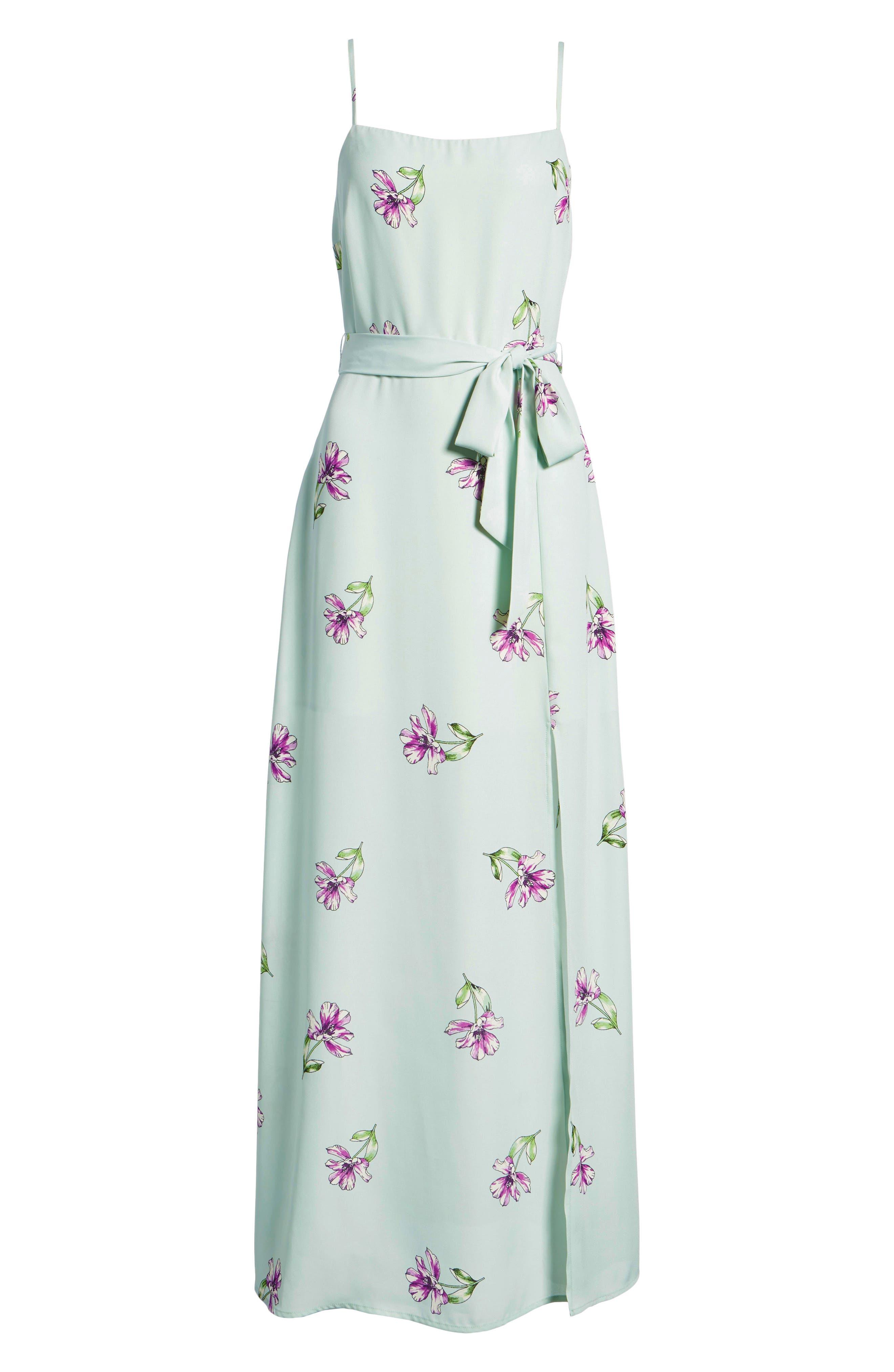 Tie Waist Maxi Dress,                             Alternate thumbnail 8, color,                             300