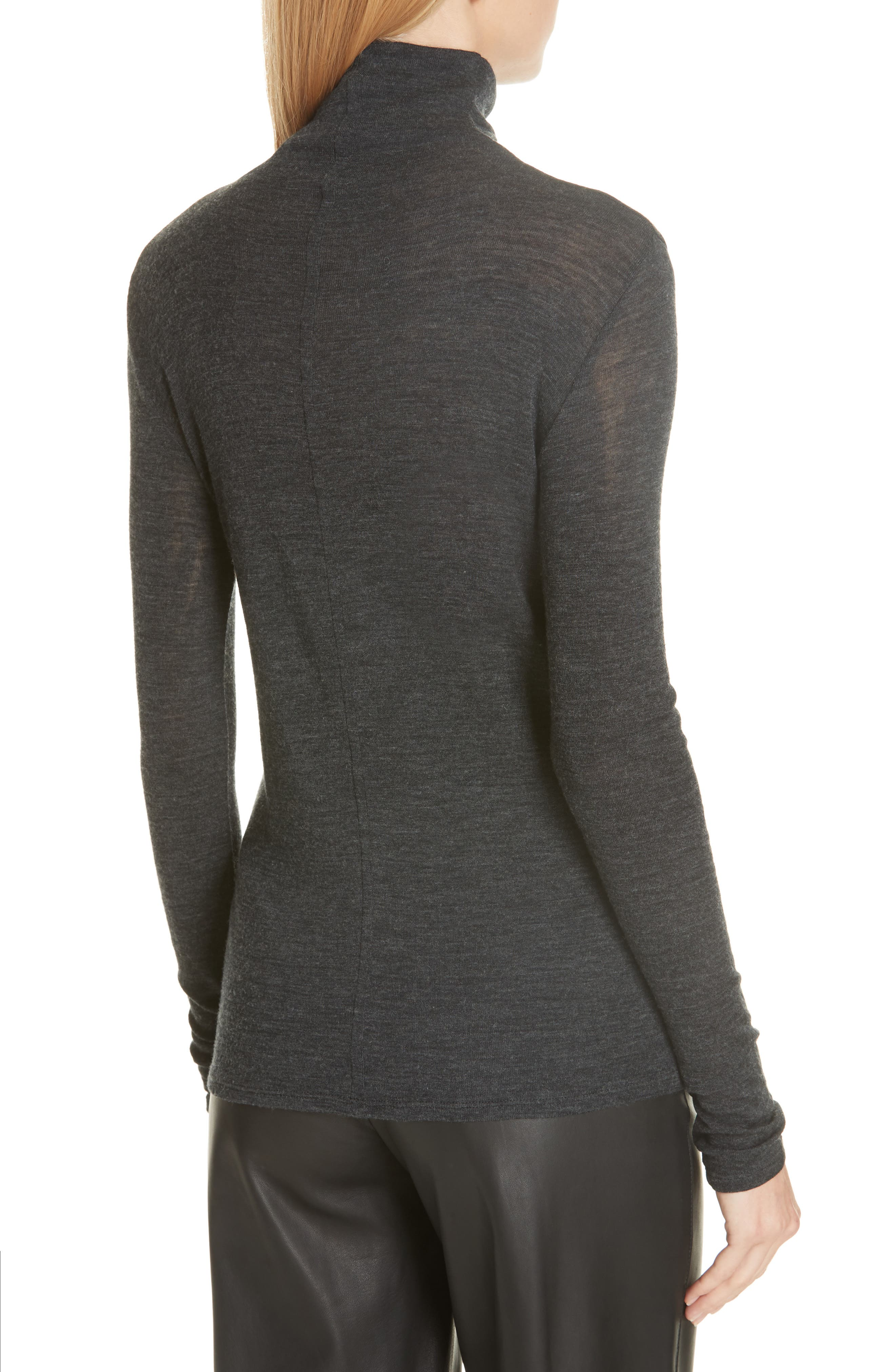 Wool Turtleneck Top,                             Alternate thumbnail 2, color,                             065