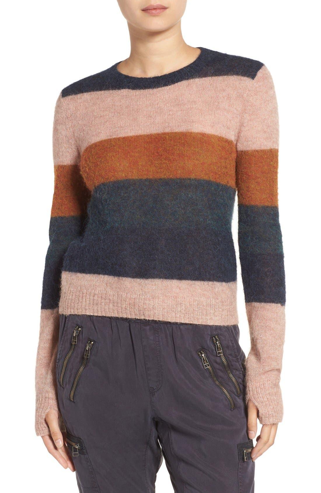 Stripe Alpaca Blend Sweater,                             Main thumbnail 2, color,