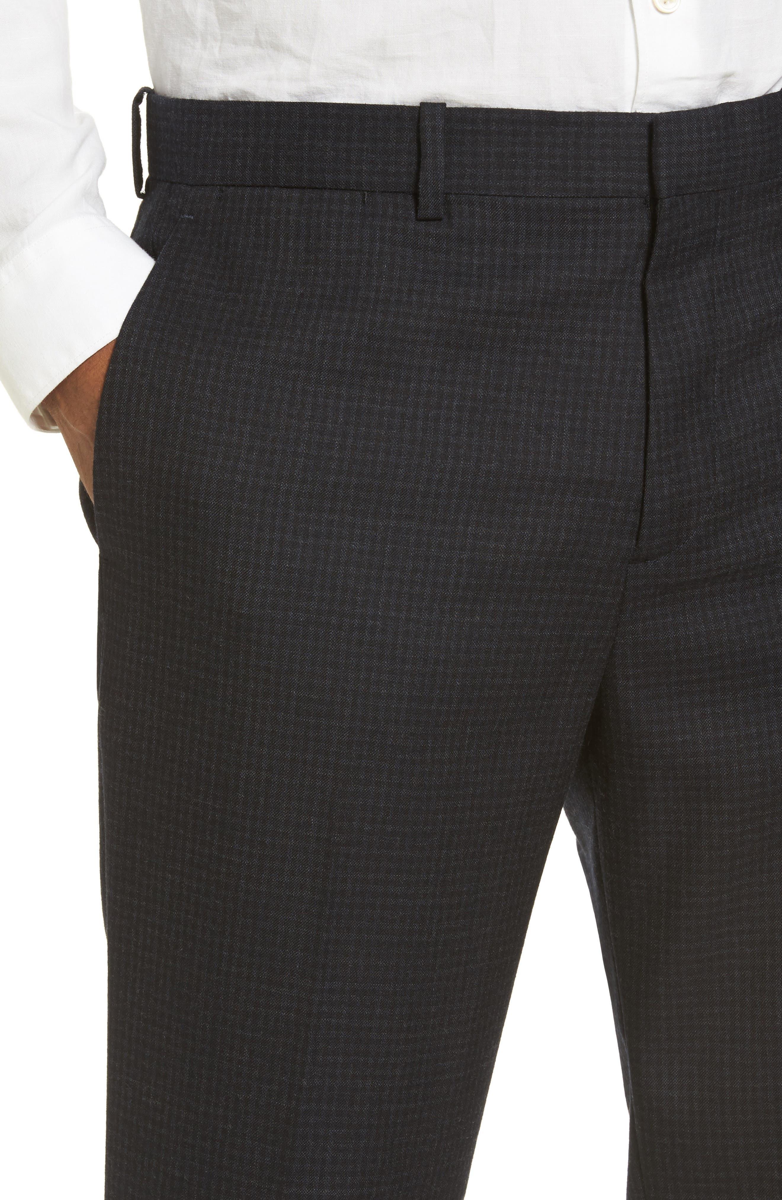 Jake Slim Fit Wool Flannel Pants,                             Alternate thumbnail 5, color,                             400