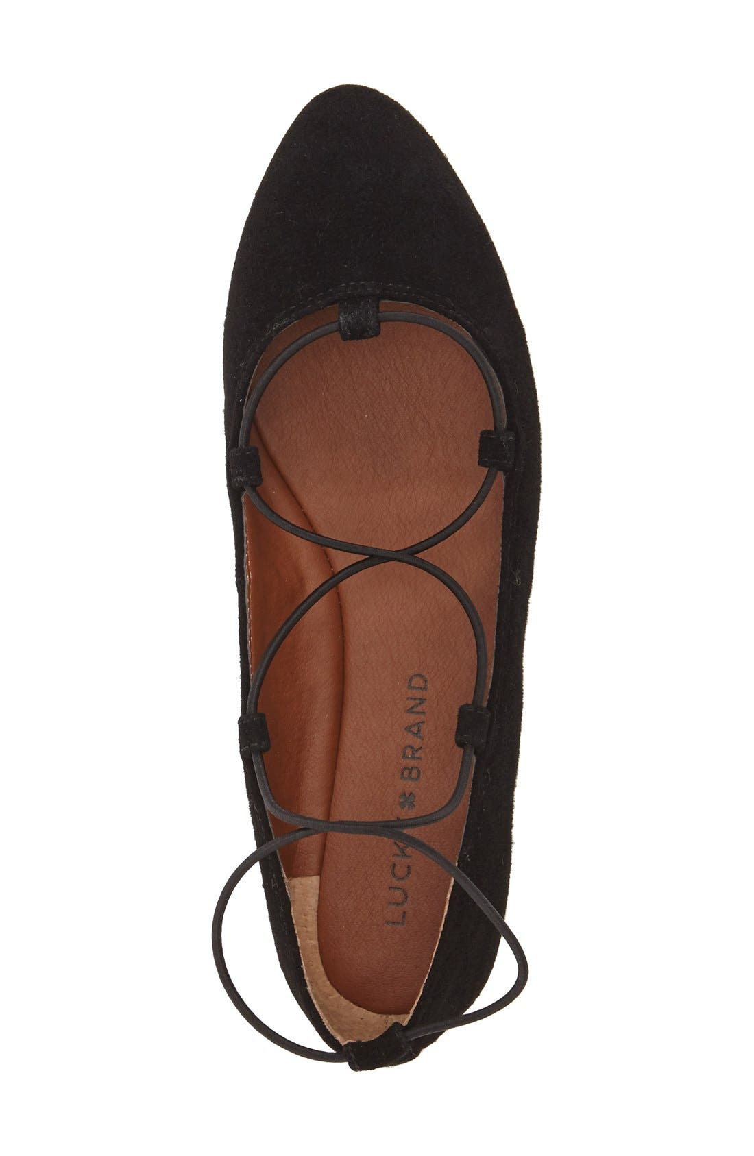 'Aviee' Lace-Up Flat,                             Alternate thumbnail 28, color,