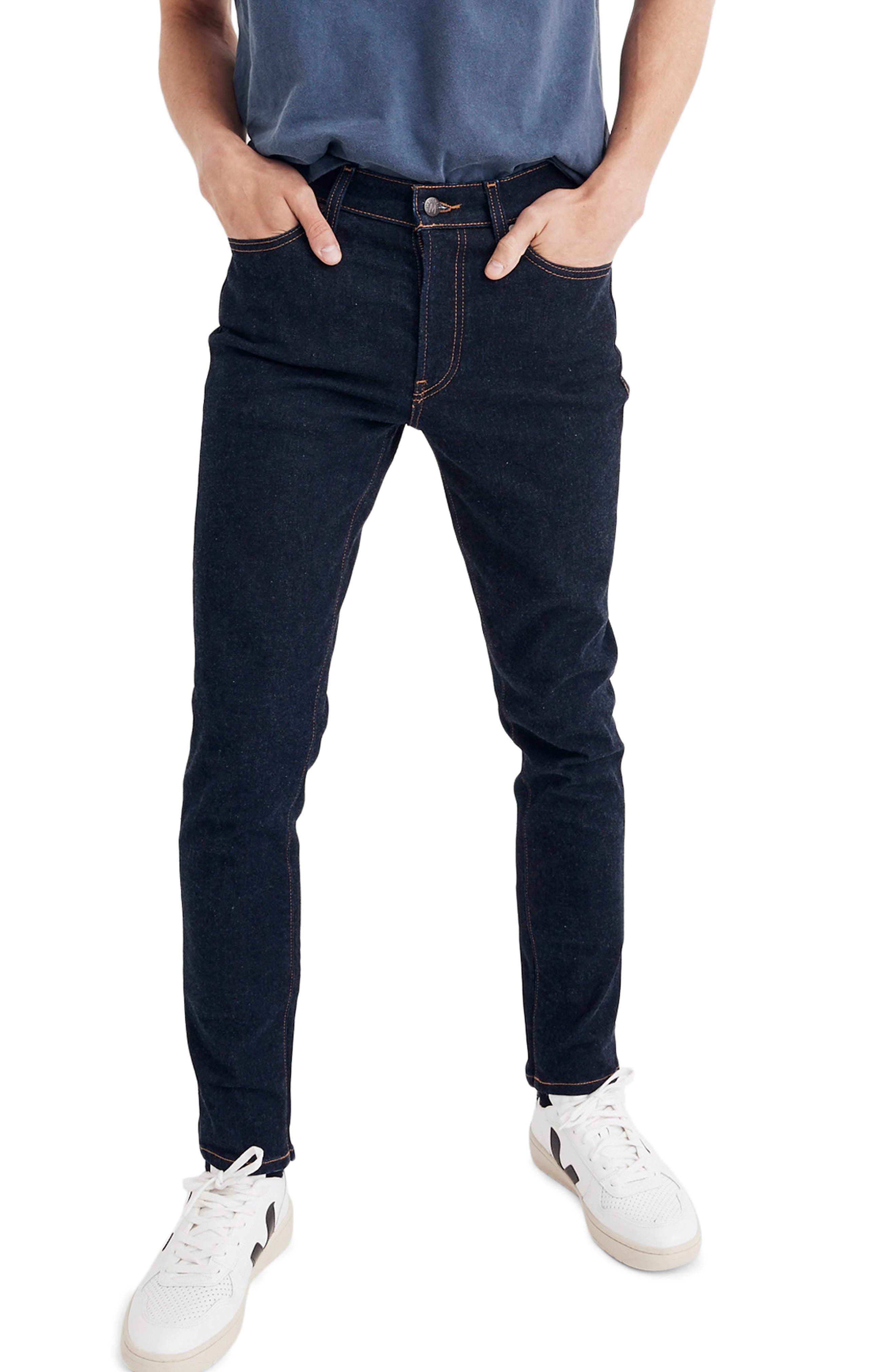 Skinny Fit Jeans,                             Main thumbnail 1, color,                             RINSE