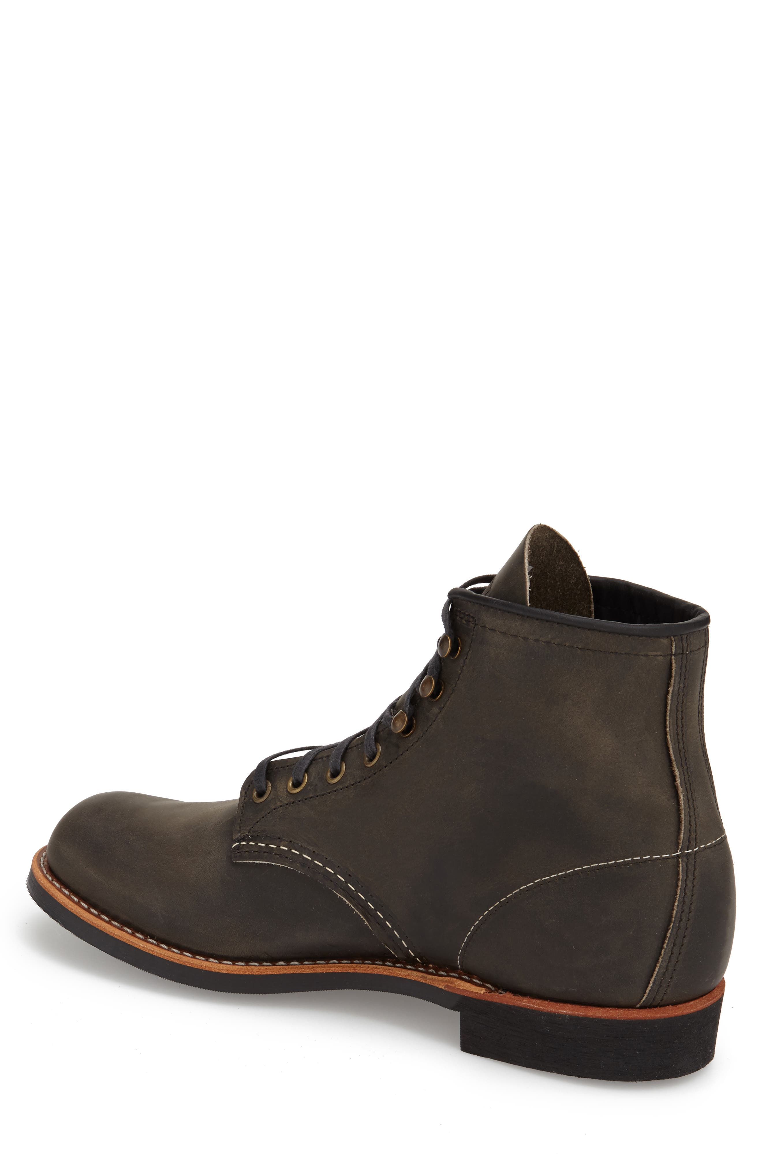 Blacksmith Boot,                             Alternate thumbnail 5, color,                             CHARCOAL LEATHER