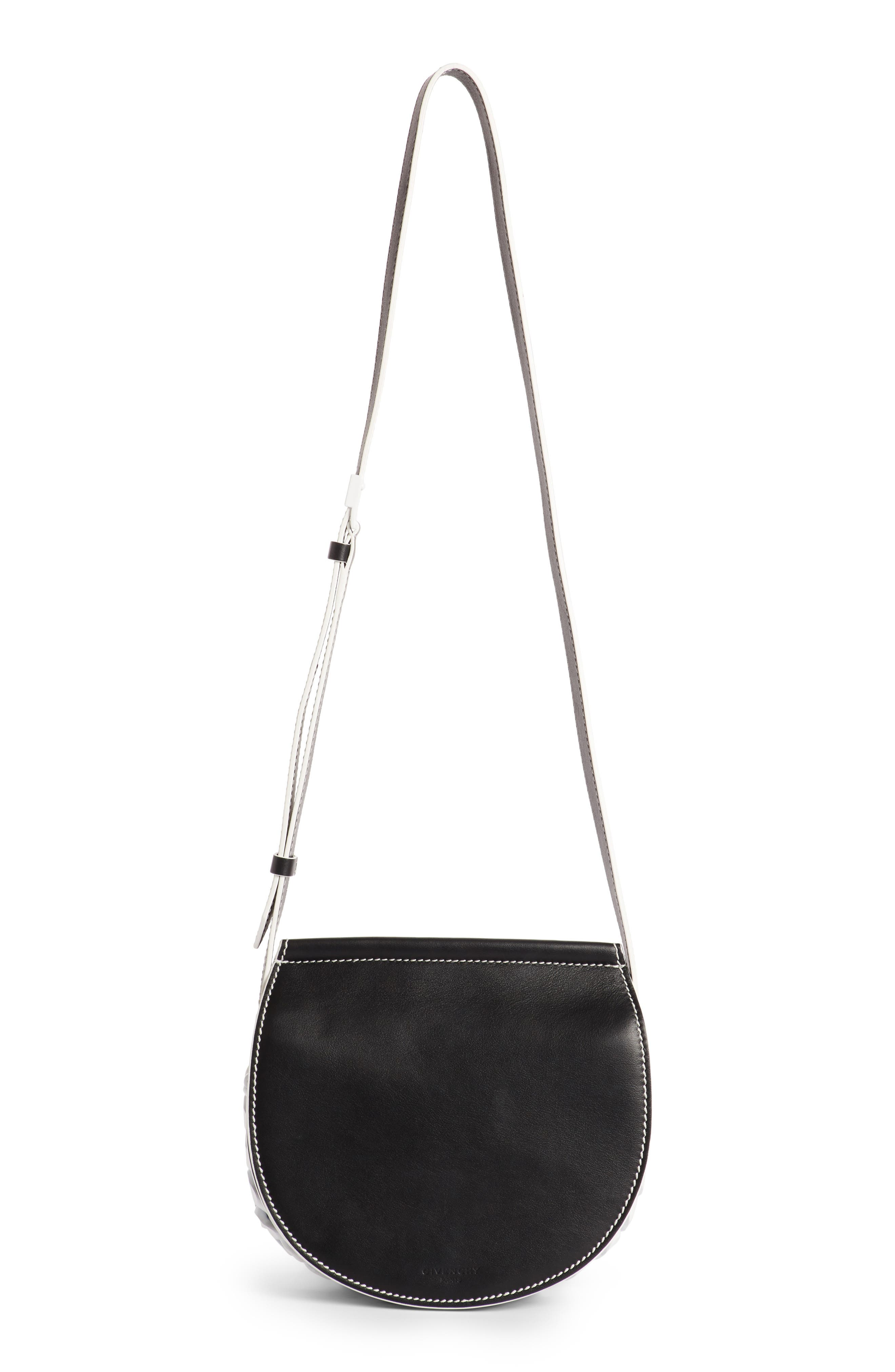 Mini Infinity Calfskin Saddle Bag,                         Main,                         color, 004