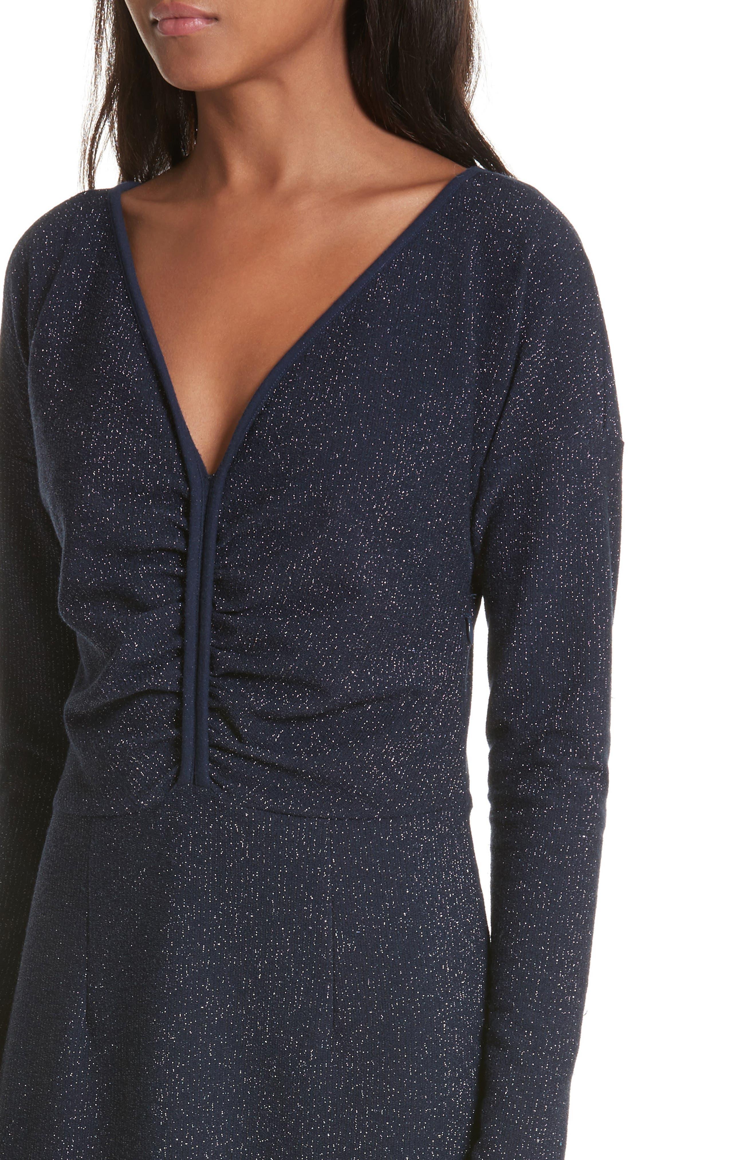 Temper Metallic Knit Dress,                             Alternate thumbnail 4, color,                             401