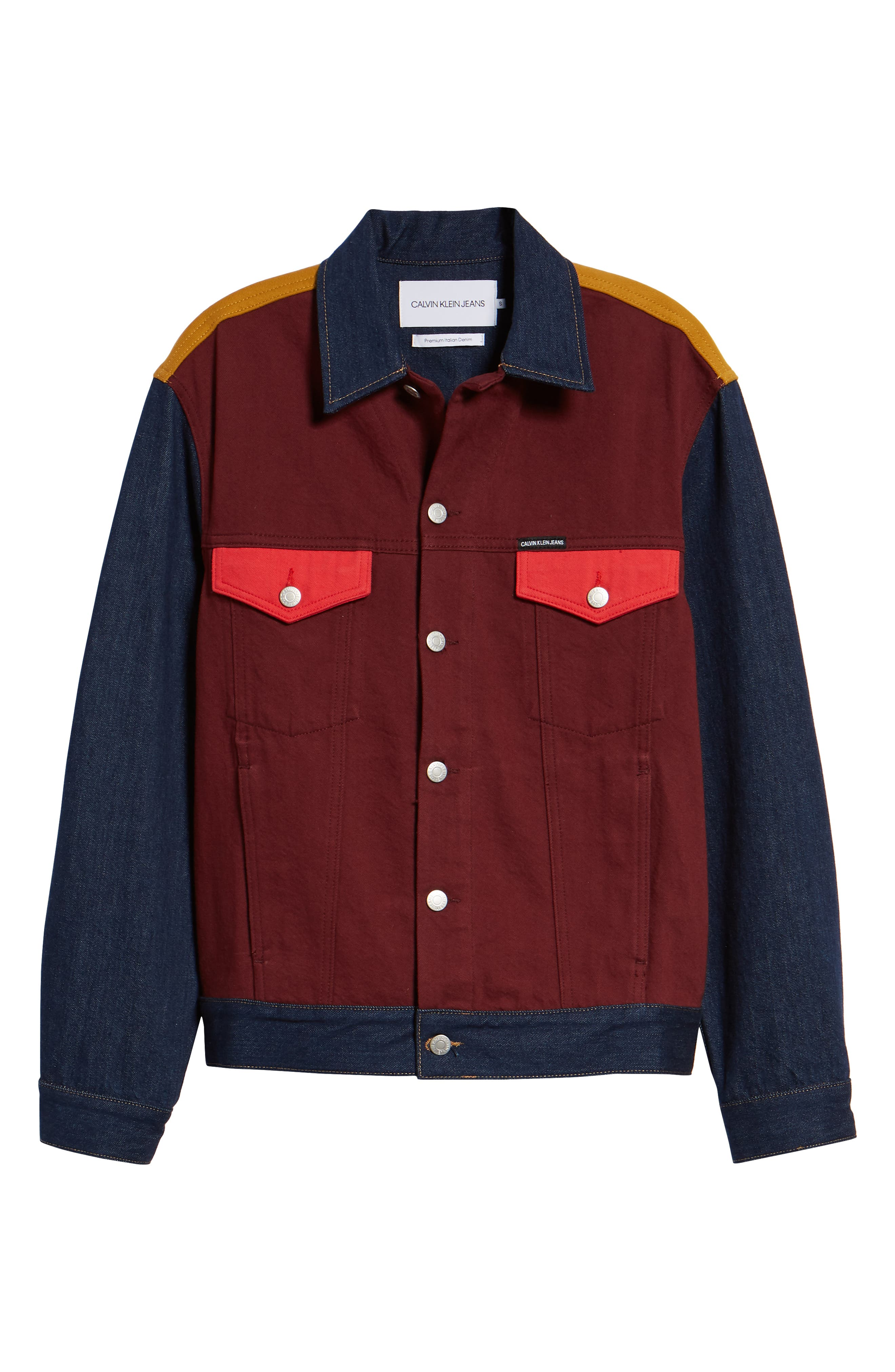 Colorblock Trucker Jacket,                             Alternate thumbnail 6, color,                             UKELELY PATCH