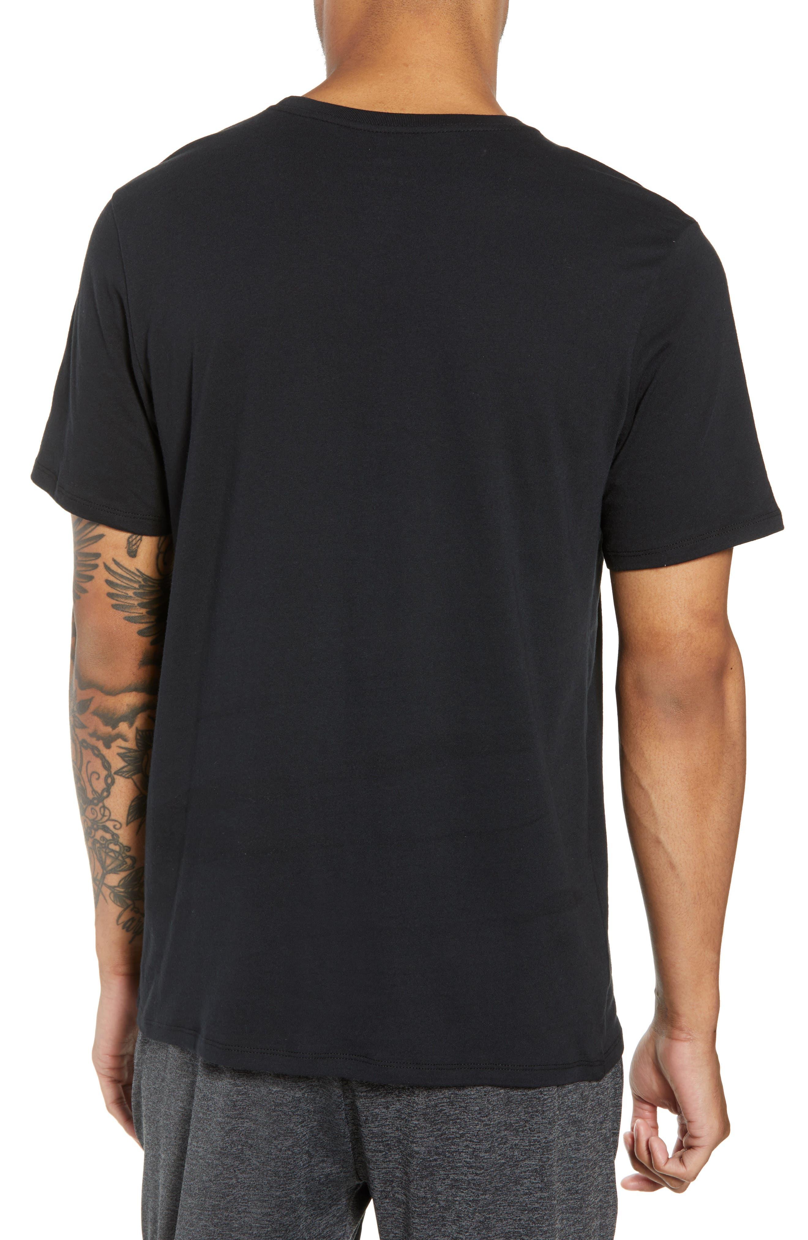 NSW Air 3 Crewneck T-Shirt,                             Alternate thumbnail 2, color,                             BLACK/ WHITE
