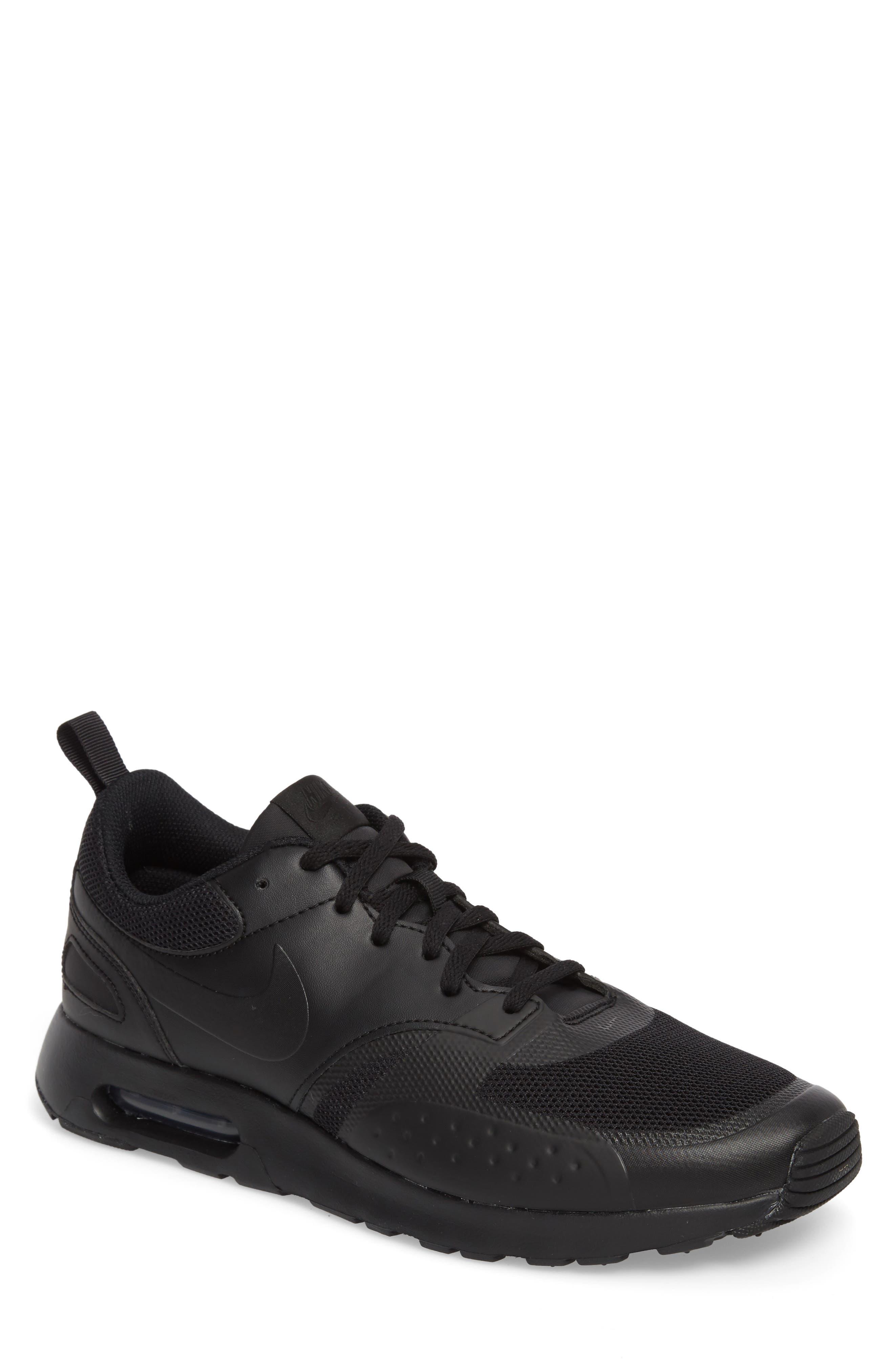 Air Max Vision Sneaker,                         Main,                         color, BLACK/ BLACK