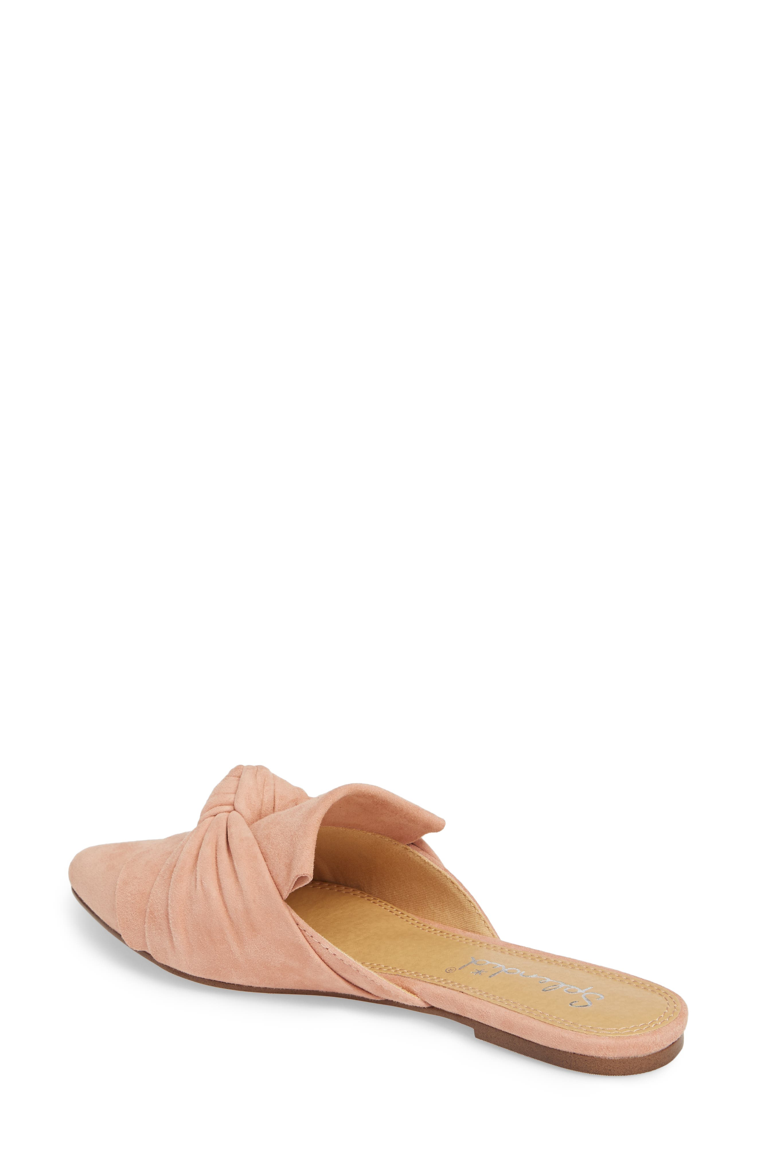 Bassett Knotted Pointy Toe Mule,                             Alternate thumbnail 6, color,