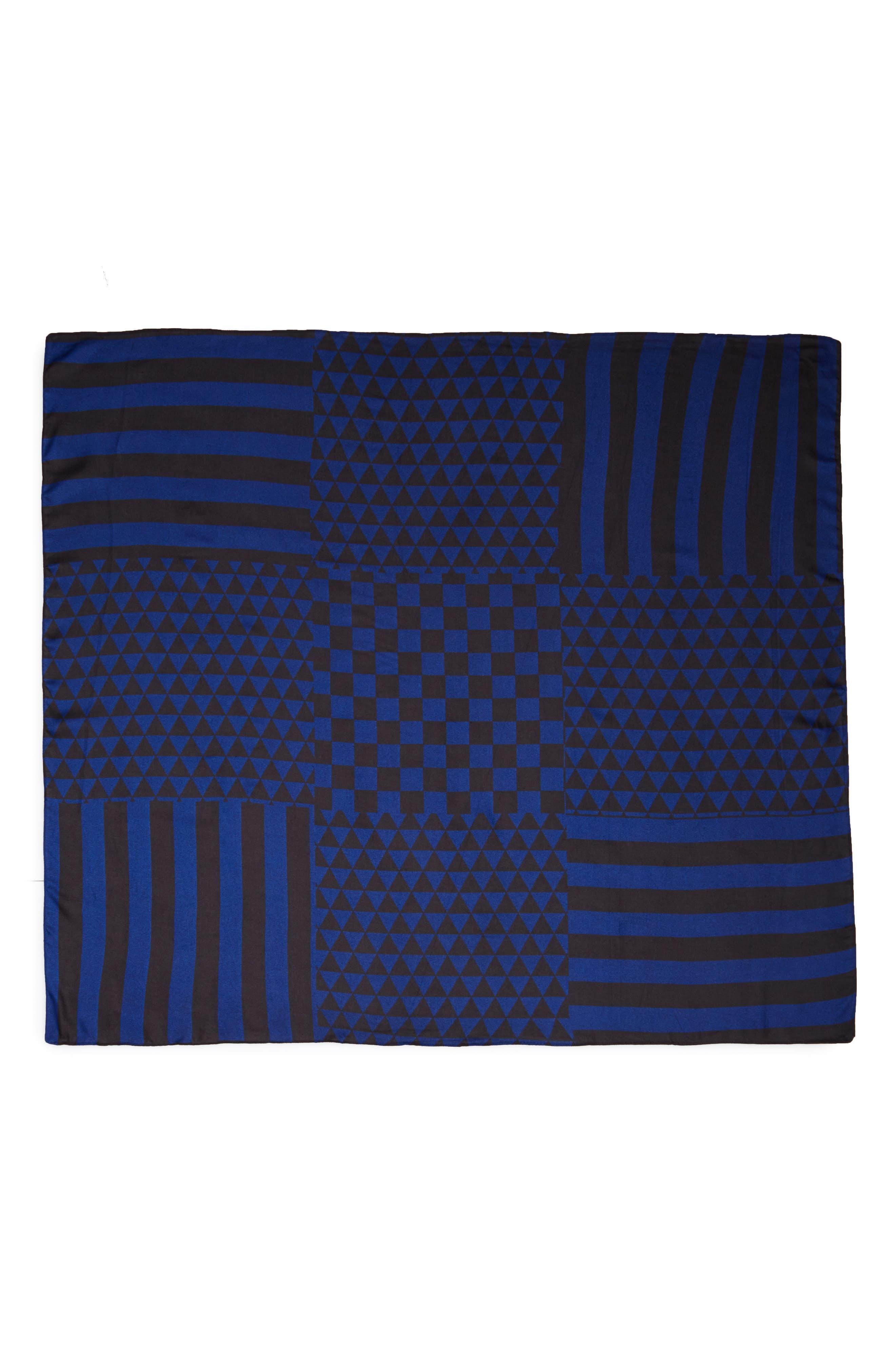 Checked Stripe Blanket Scarf,                             Alternate thumbnail 2, color,                             400