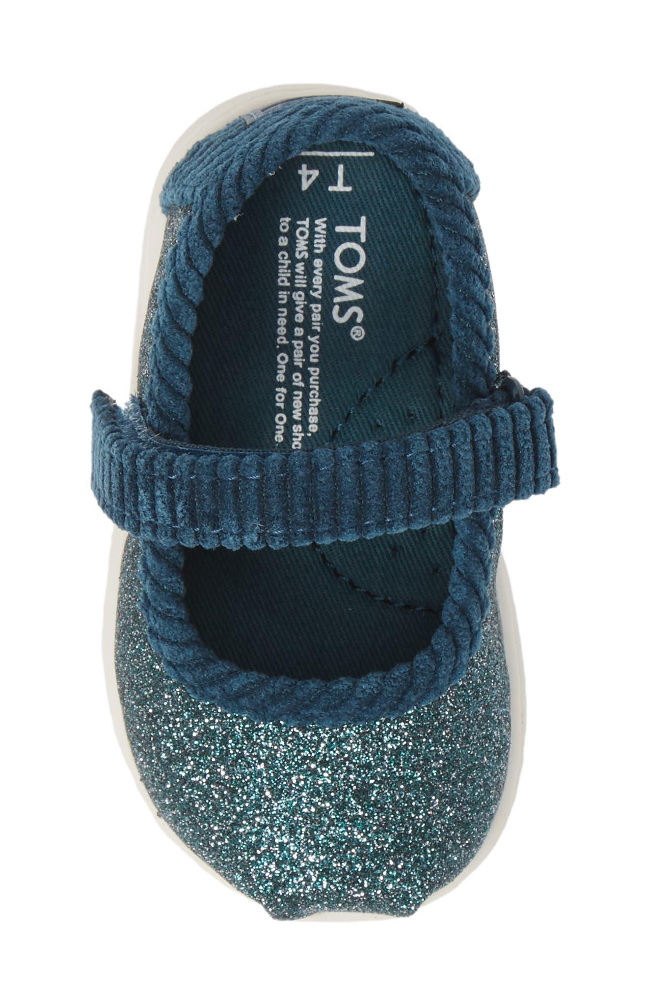 Mary Jane Sneaker,                             Alternate thumbnail 5, color,                             ATLANTIC IRIDESCENT/ CORDUROY