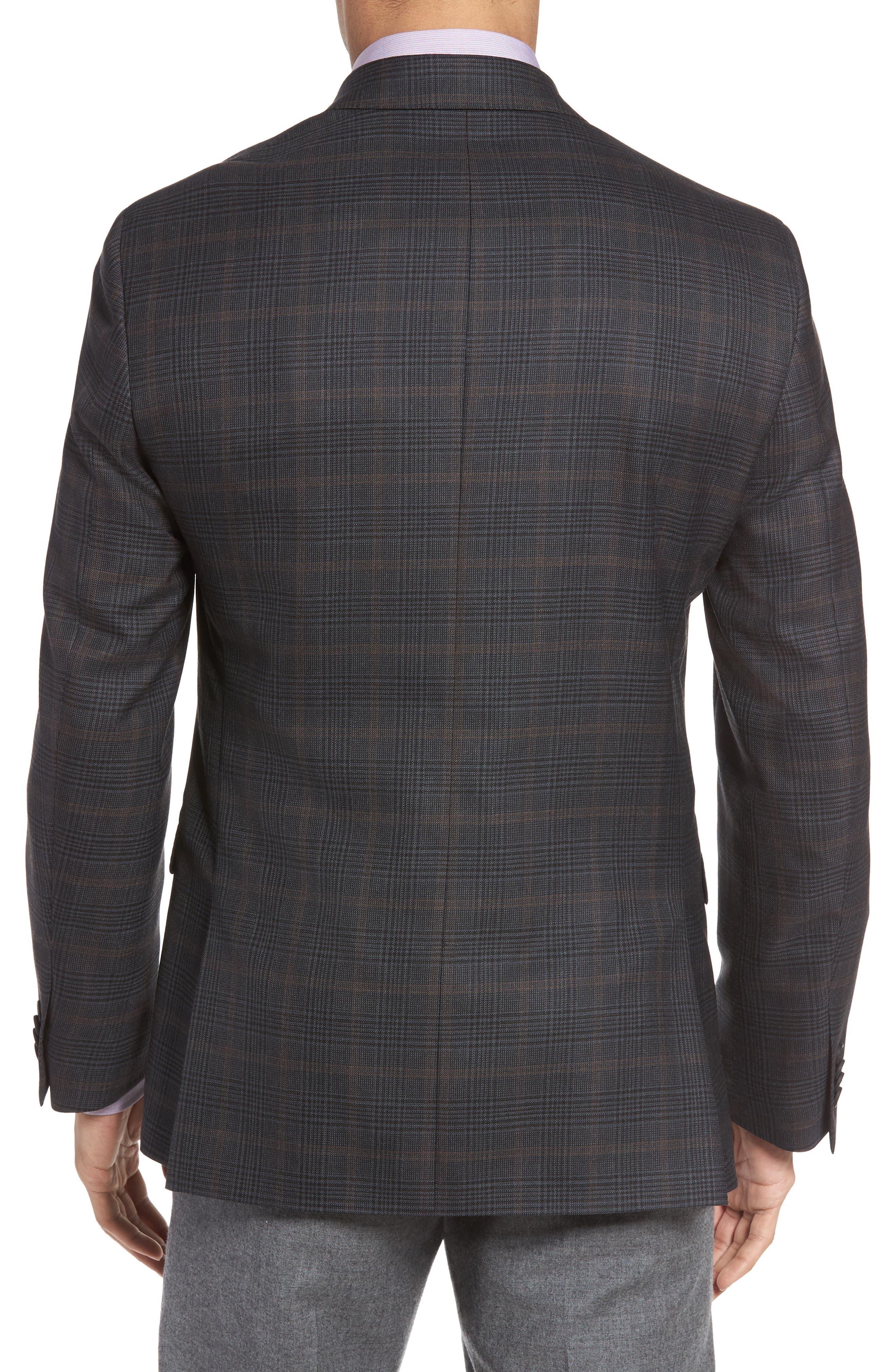 Classic Fit Plaid Wool Sport Coat,                             Alternate thumbnail 2, color,                             021