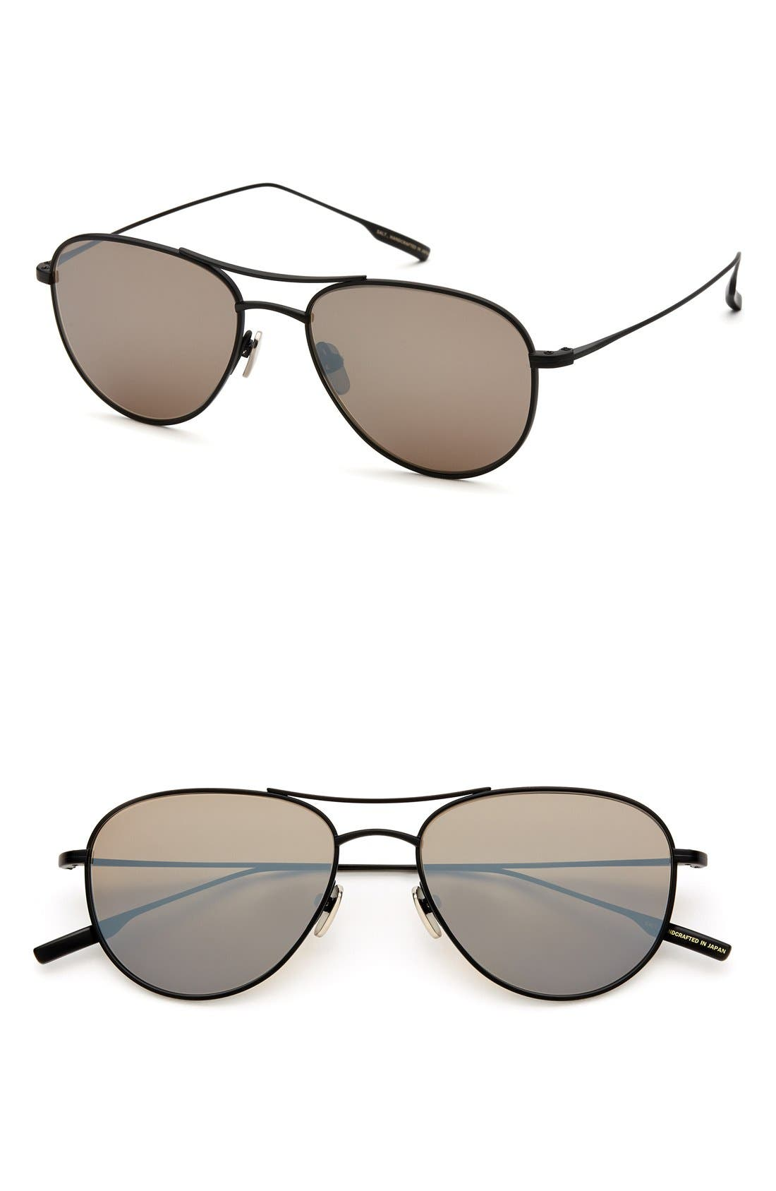 'Meadows' 54mm Polarized Aviator Sunglasses,                             Main thumbnail 1, color,                             010