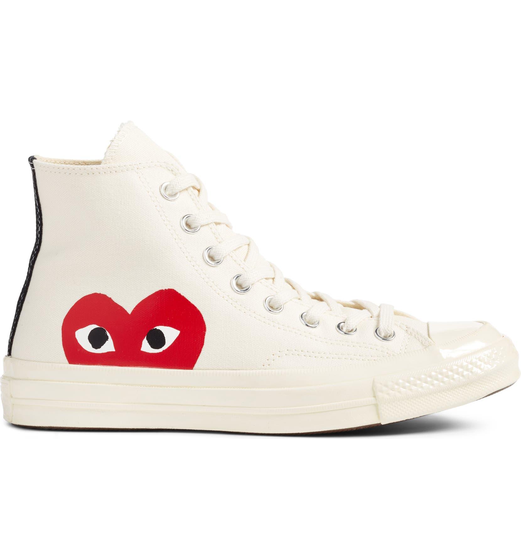7d49d40c349 Comme des Garçons PLAY x Converse Chuck Taylor® Hidden Heart High Top  Sneaker (Men)