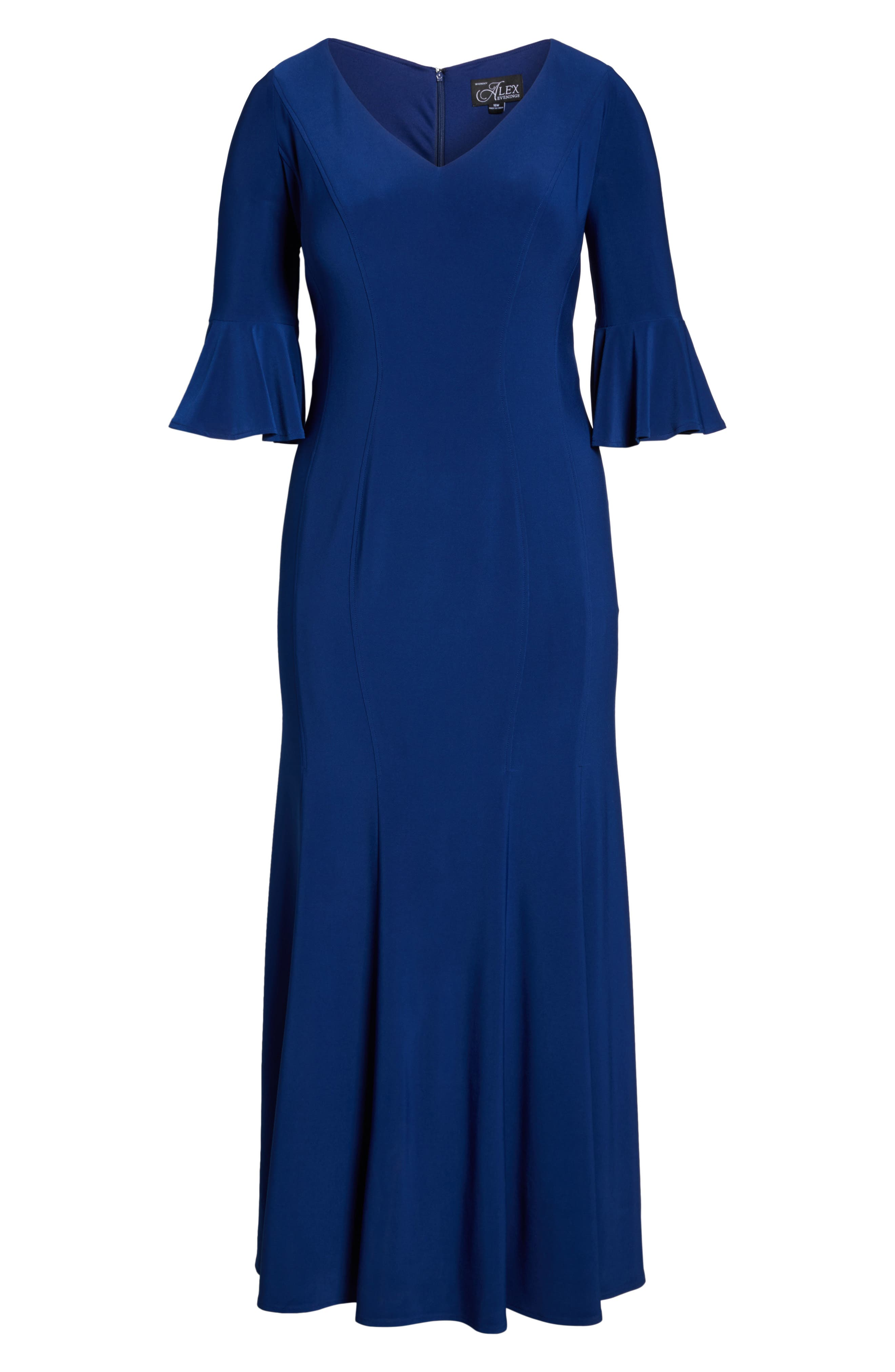 Fit & Flare Gown,                             Alternate thumbnail 6, color,                             406