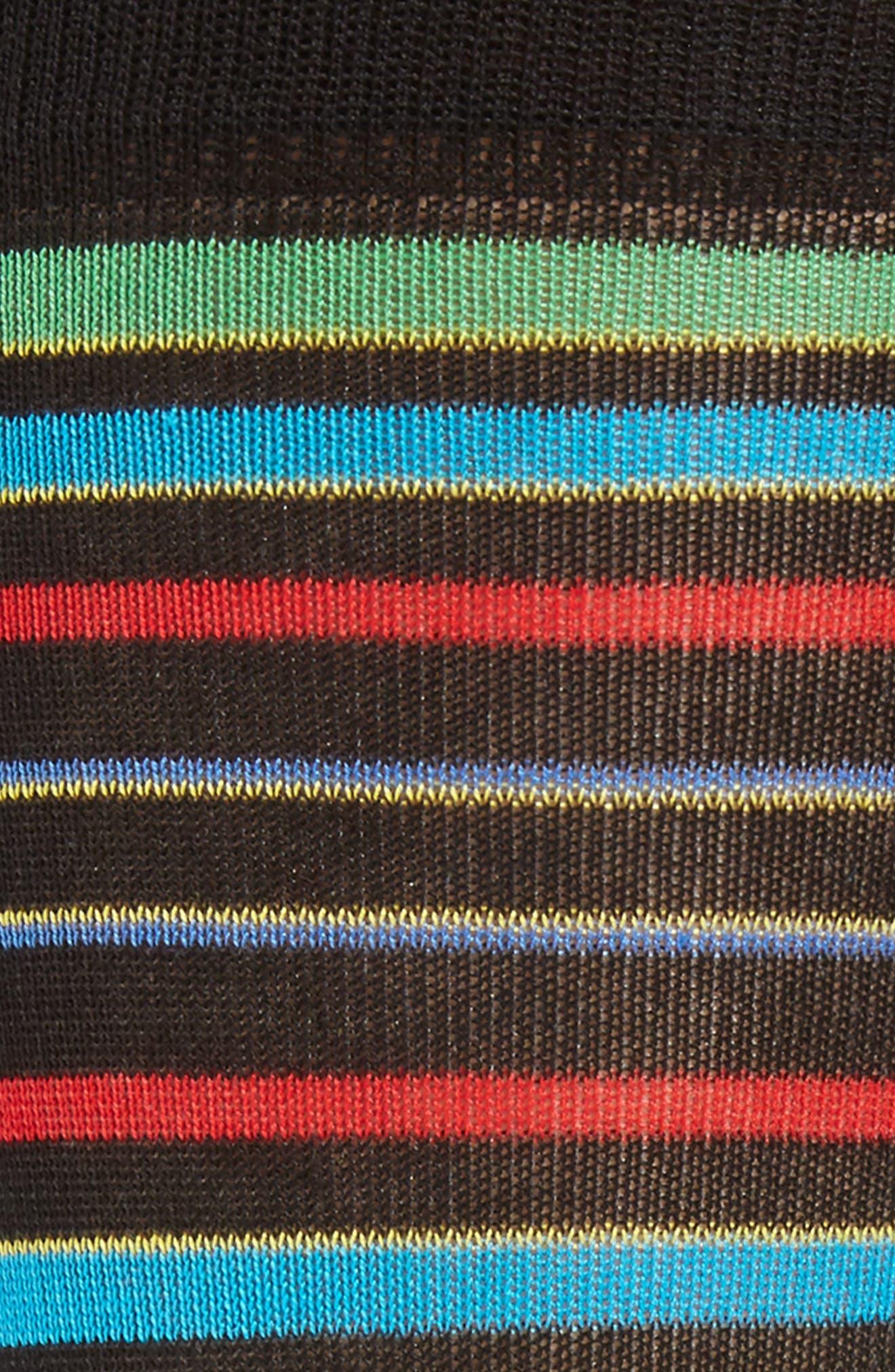 Thick Stripe Crew Socks,                             Alternate thumbnail 2, color,                             001