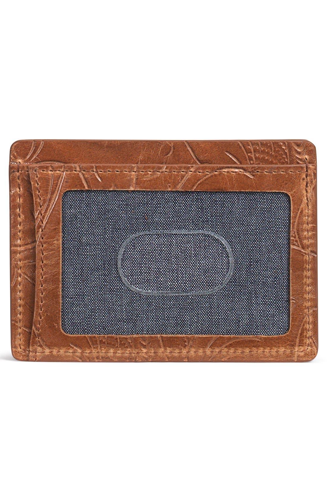 'Jackson' Italian Steer Leather Card Case,                             Alternate thumbnail 2, color,                             240