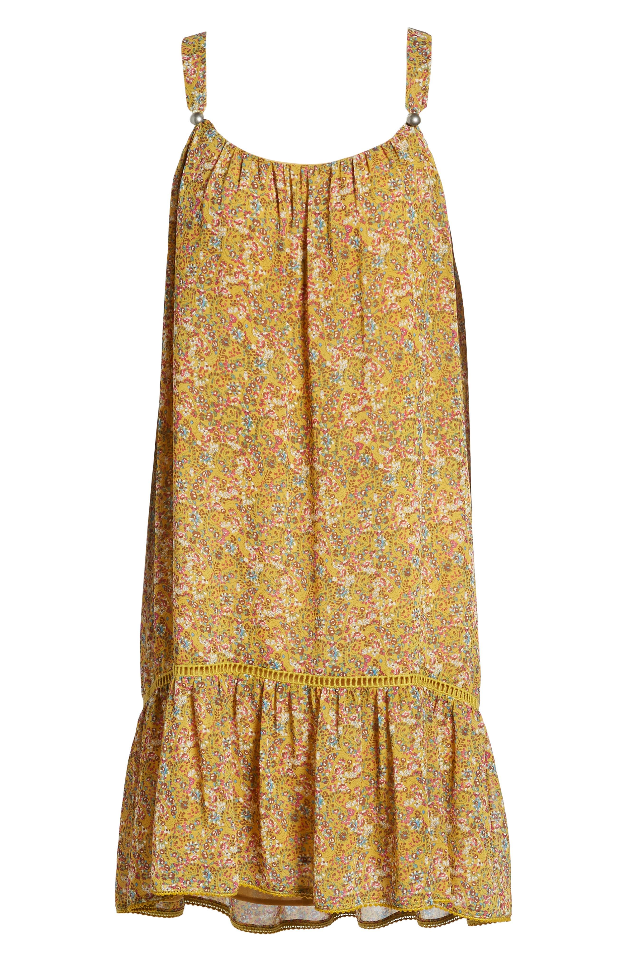 Madison Floral Sundress,                             Alternate thumbnail 6, color,                             YELLOW MULTI