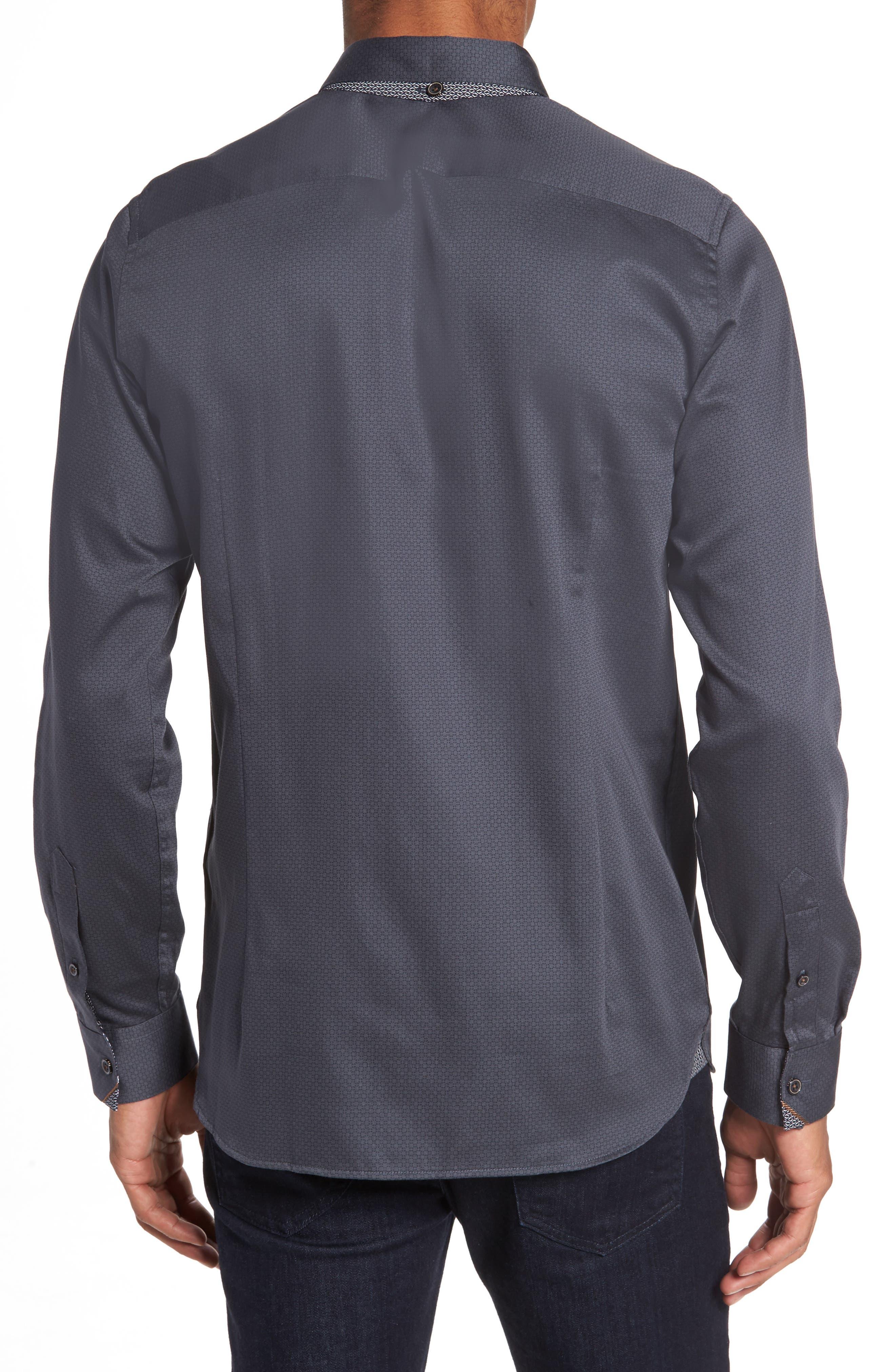 Strazbo Tonal Print Sport Shirt,                             Alternate thumbnail 2, color,                             030