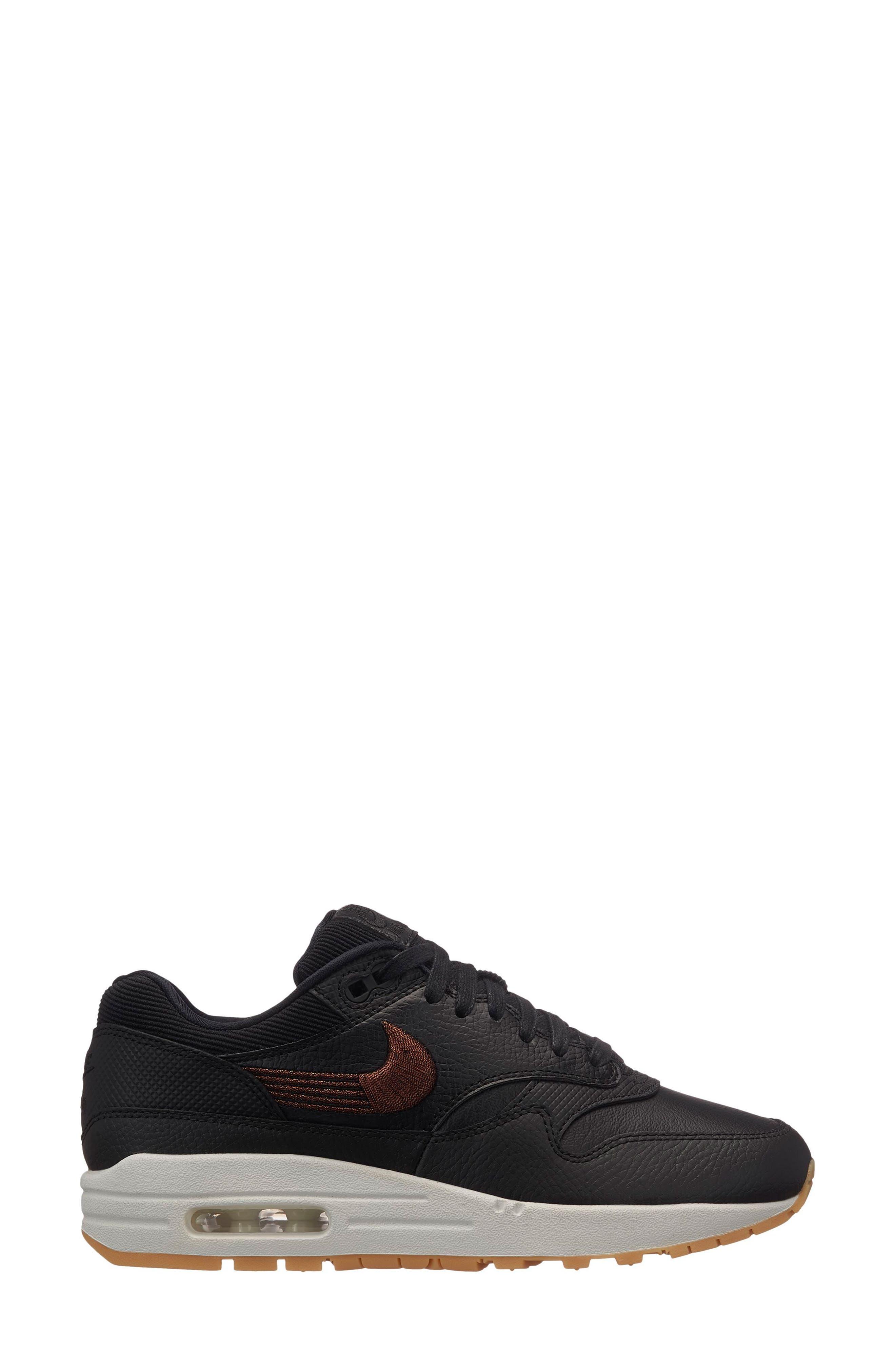 Air Max 1 Premium Sneaker,                             Alternate thumbnail 6, color,                             GREY