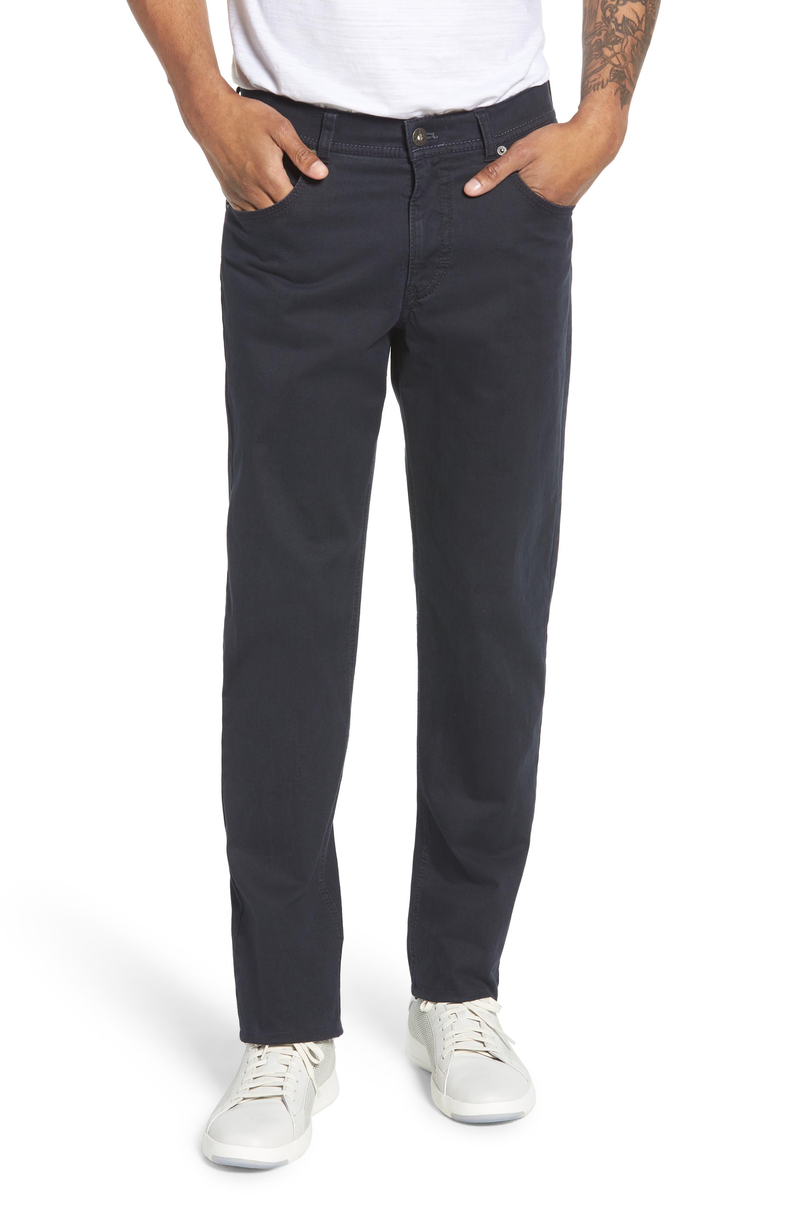 Neat Print Stretch Cotton Pants,                         Main,                         color, 410