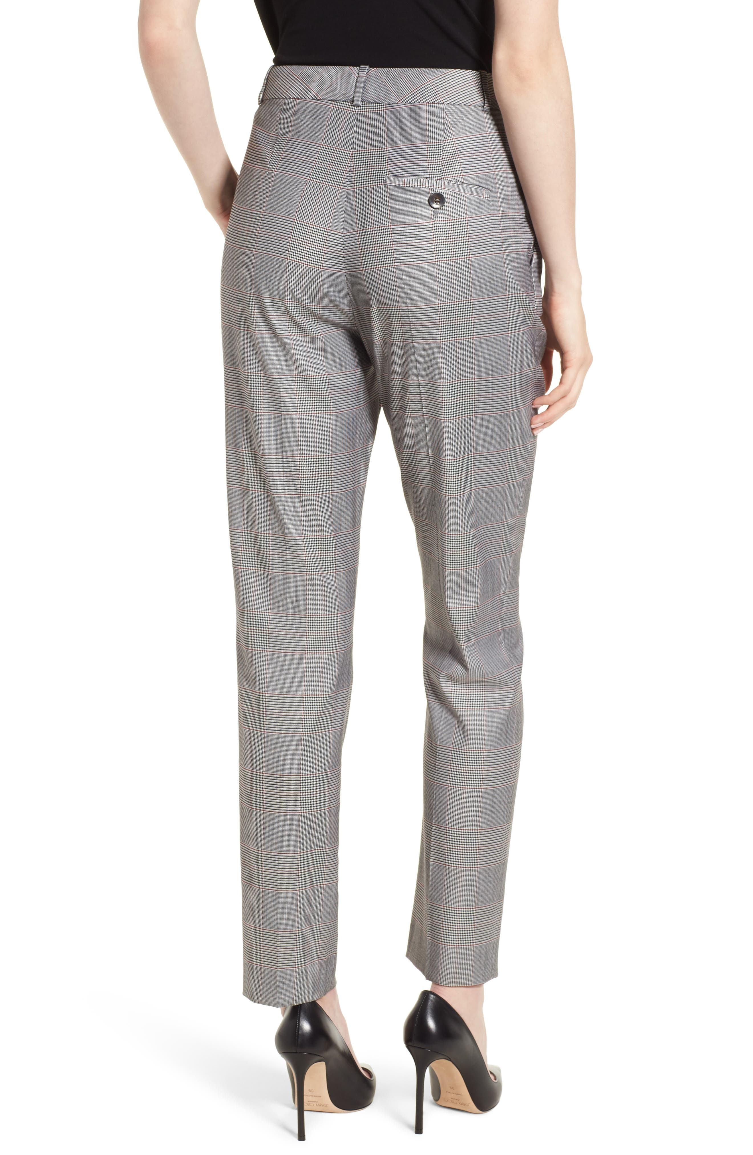 Tofilia Glencheck Slim Fit Trousers,                             Alternate thumbnail 2, color,                             874