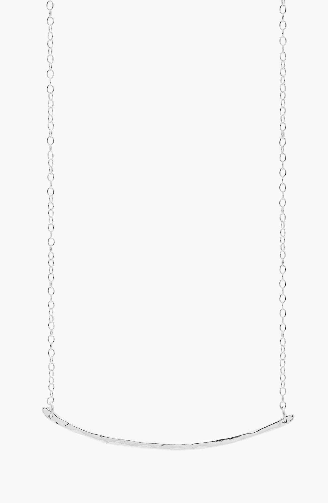 Taner Bar Small Necklace,                             Main thumbnail 1, color,                             SILVER