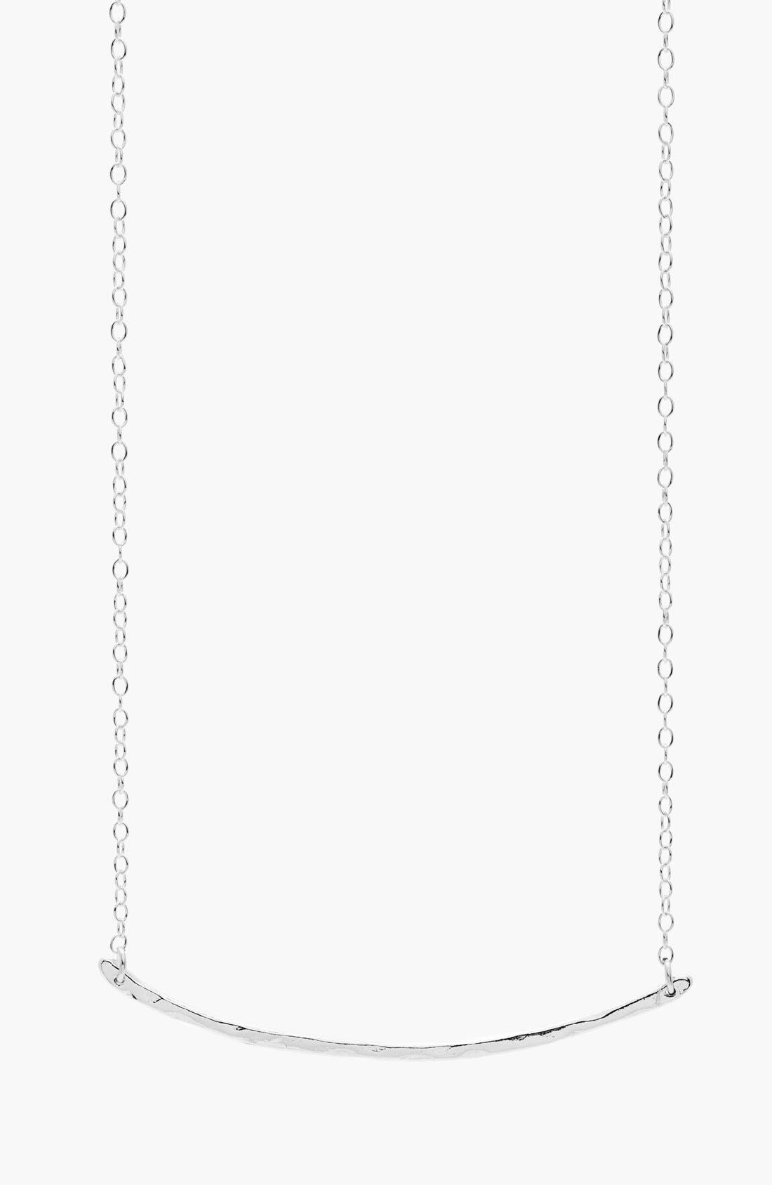 Taner Bar Small Necklace,                         Main,                         color, SILVER