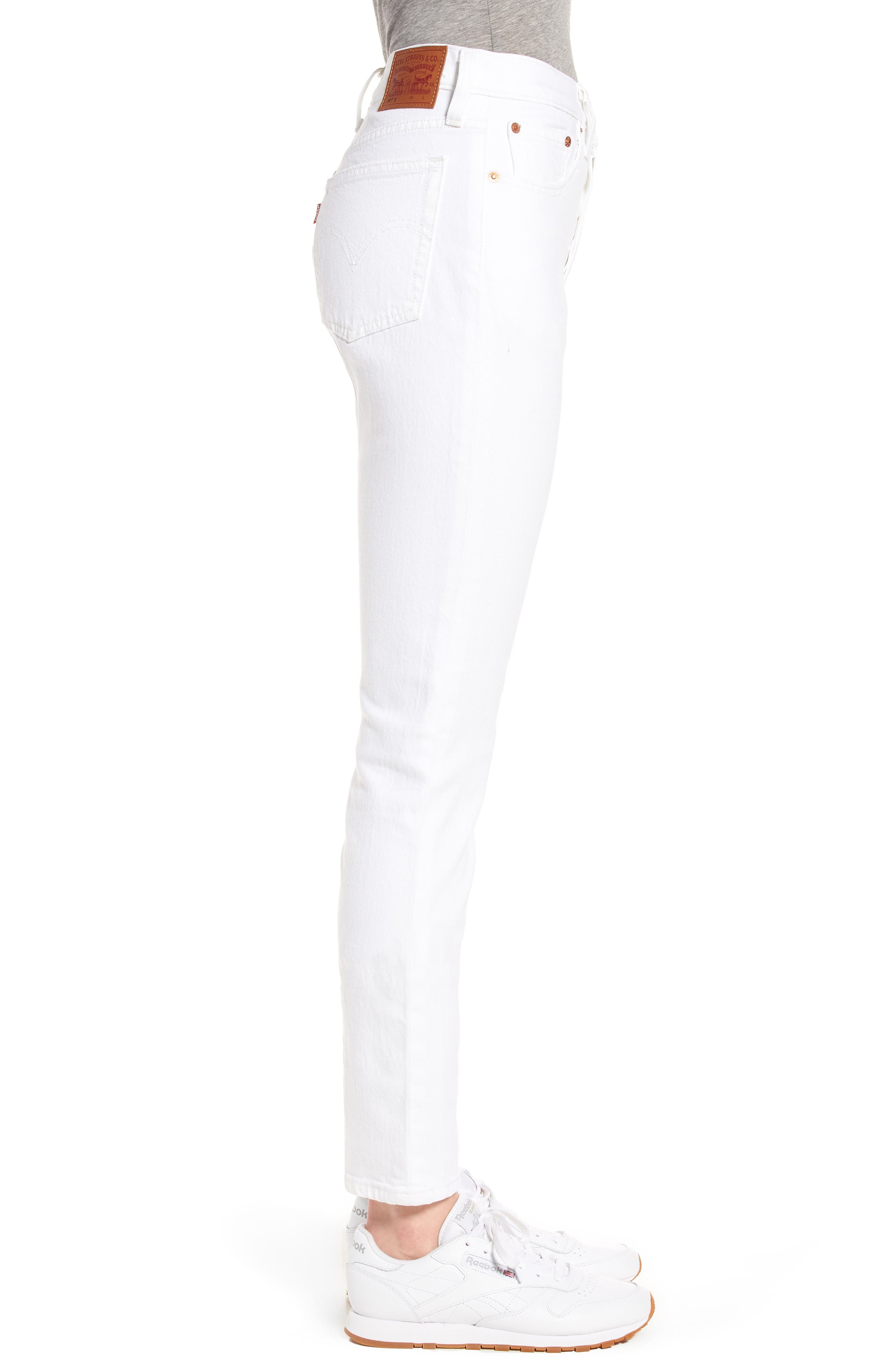 501<sup>®</sup> High Waist Skinny Jeans,                             Alternate thumbnail 3, color,                             100
