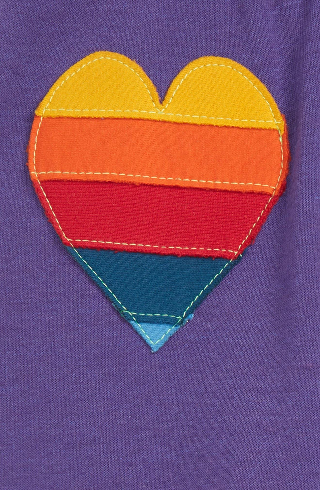 Heart Patch Sweatpants,                             Alternate thumbnail 2, color,                             PURPLE