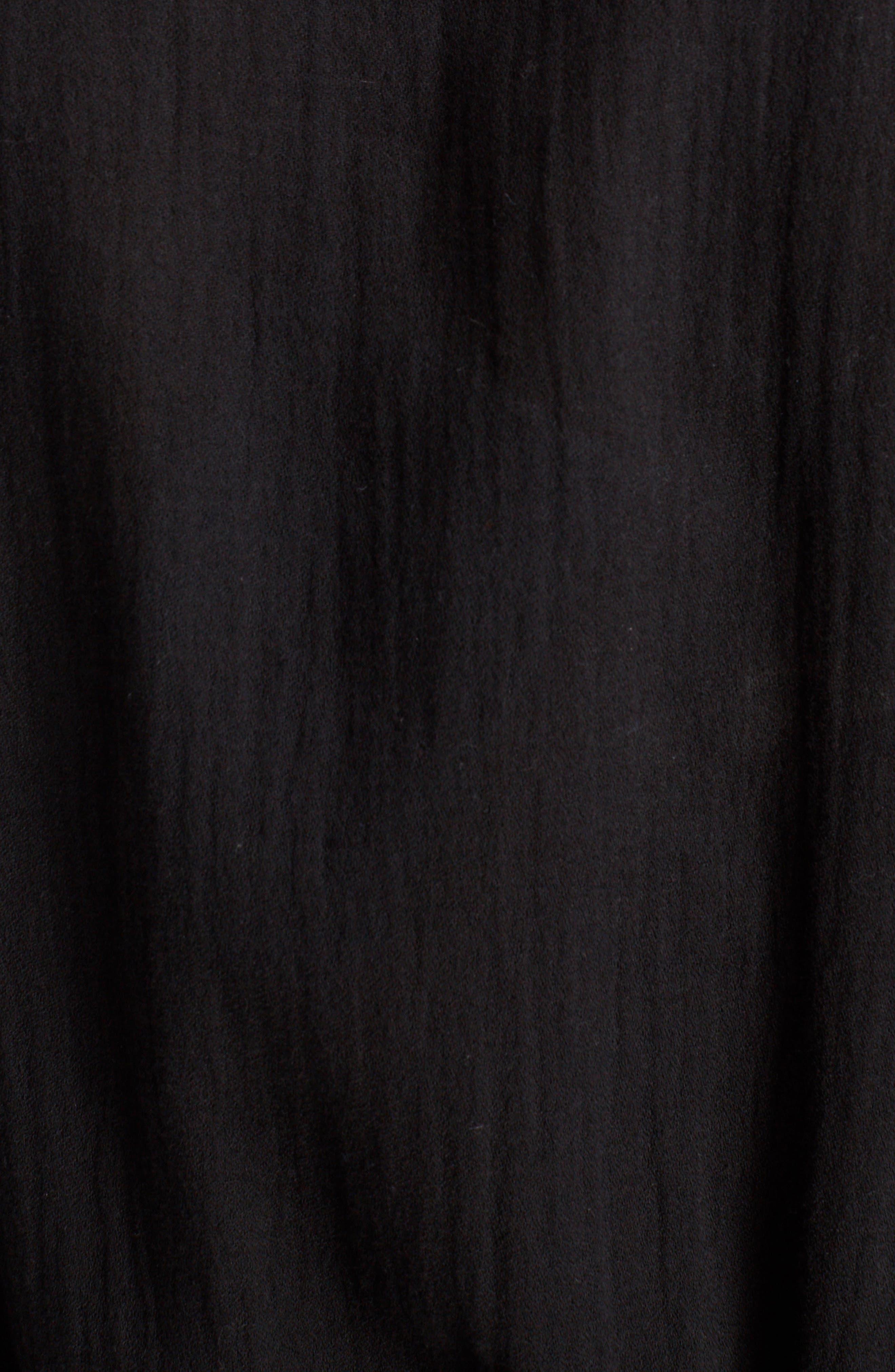 Button Front Cotton Maxi Dress,                             Alternate thumbnail 6, color,                             001