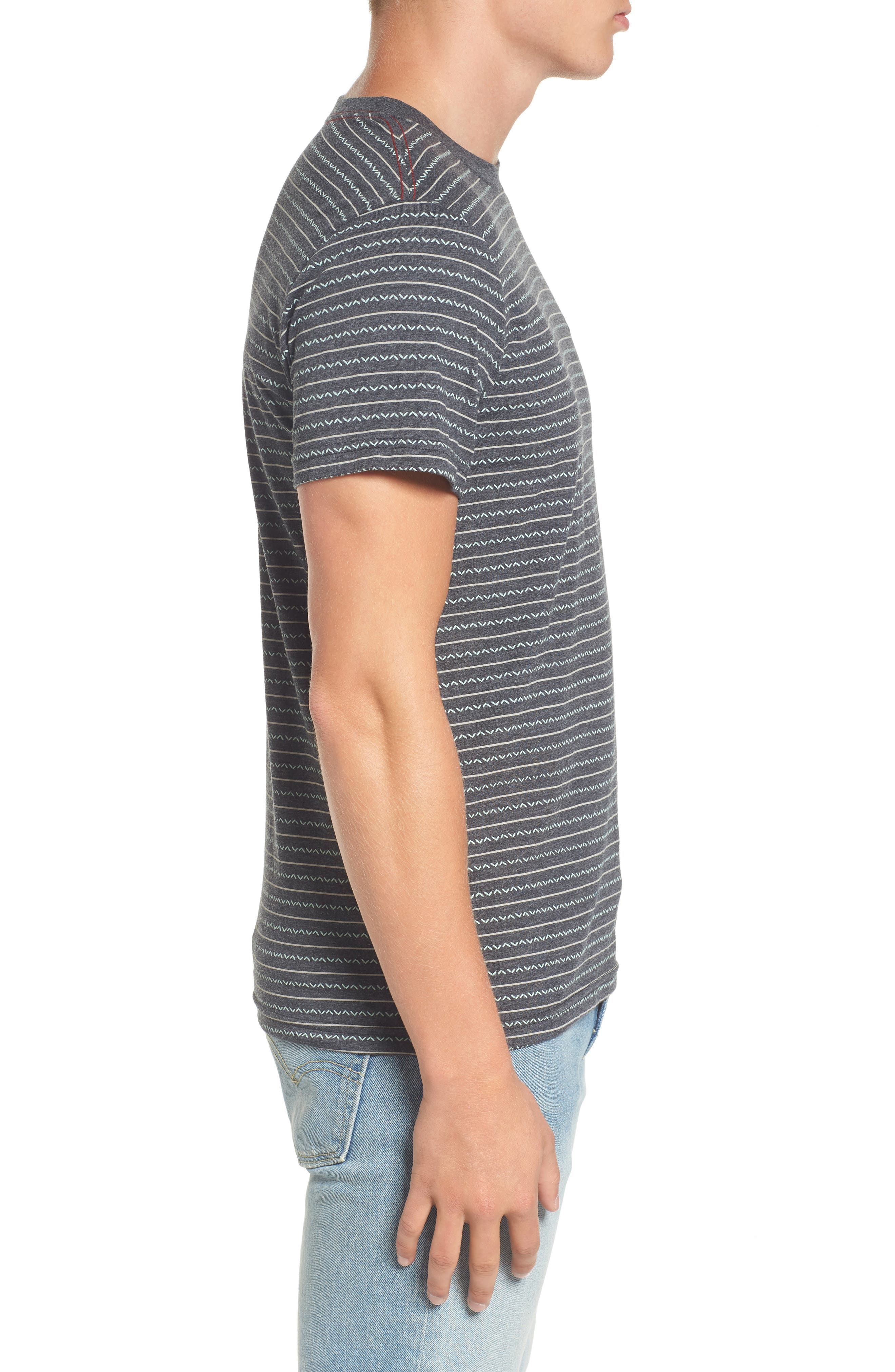 Chevron Stripe T-Shirt,                             Alternate thumbnail 5, color,
