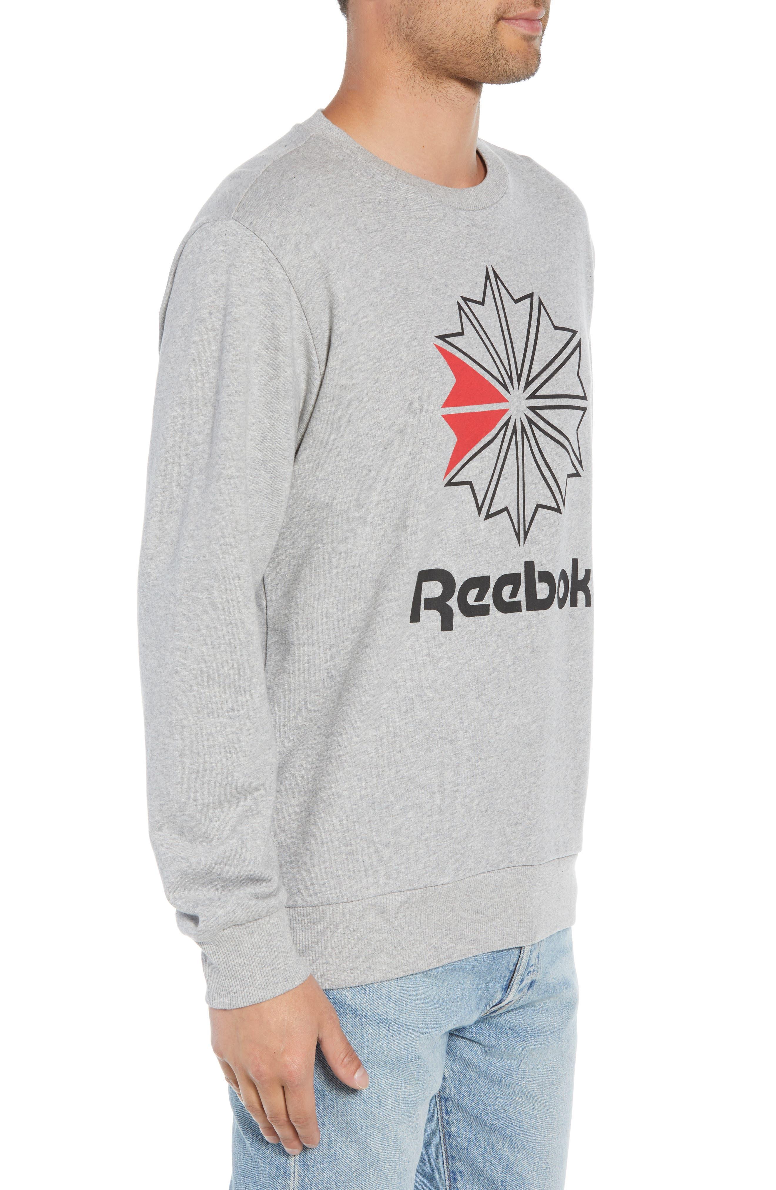 Classic Big Starcrest Logo Sweatshirt,                             Alternate thumbnail 3, color,                             MEDIUM GREY HEATHER