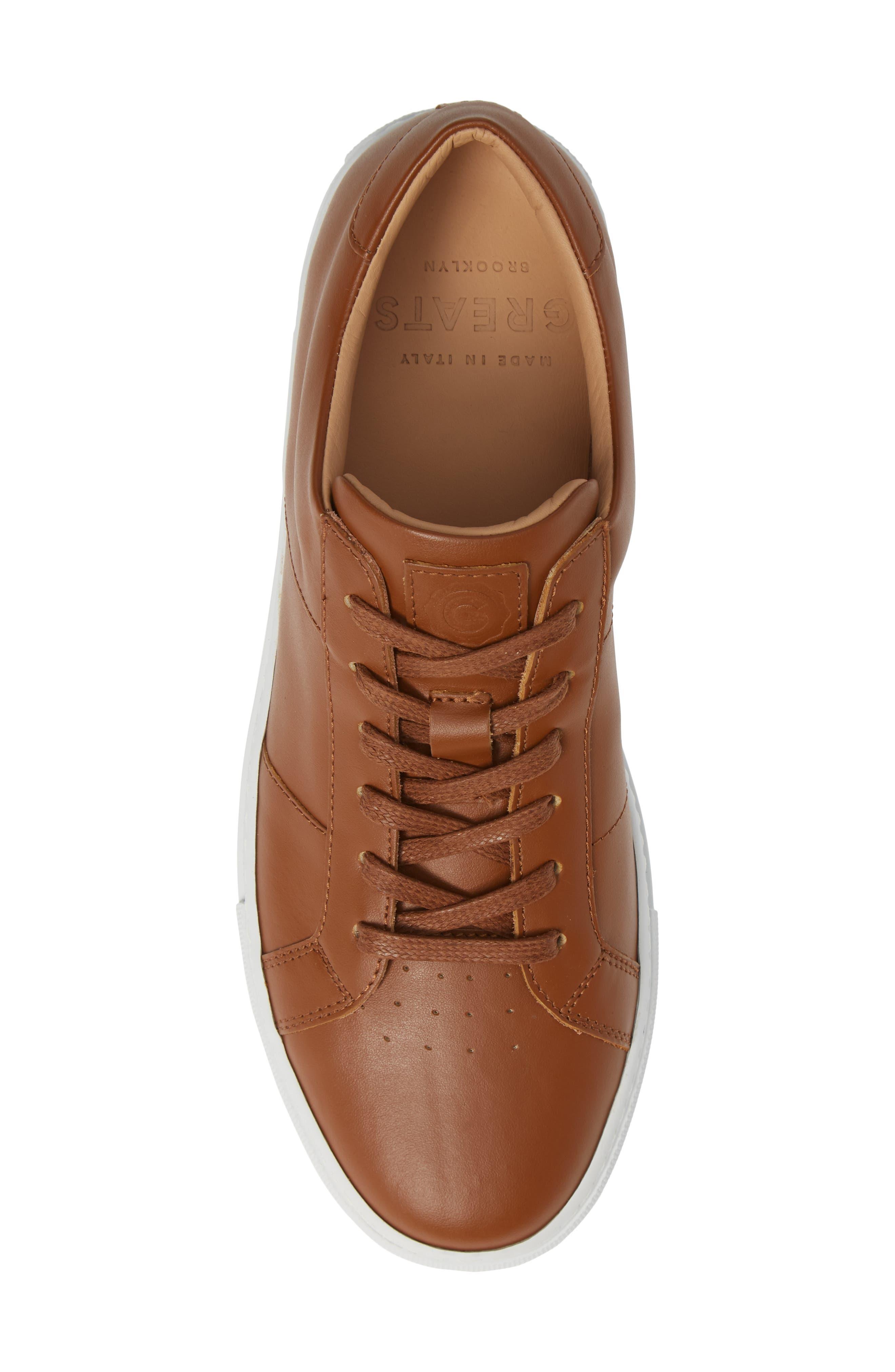 Royale Sneaker,                             Alternate thumbnail 5, color,                             TAN LEATHER