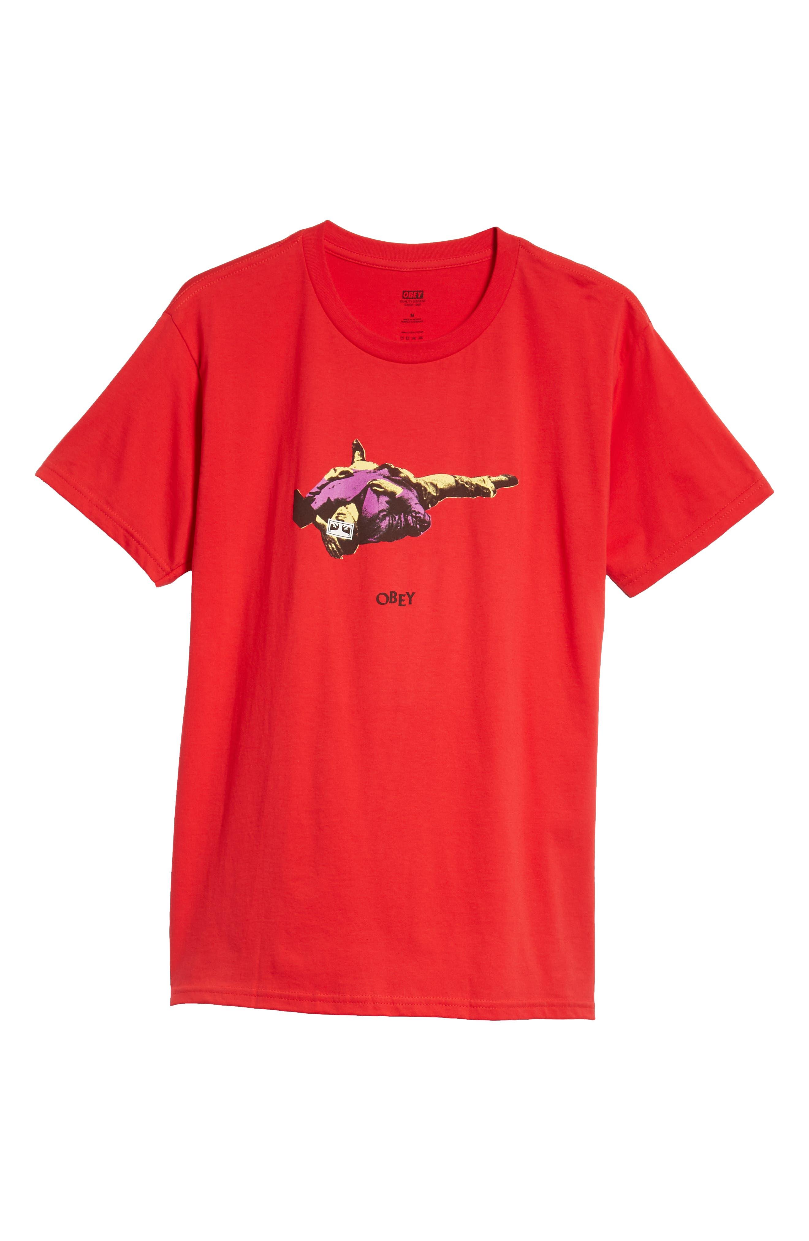 Cultural Rigor Mortis Premium T-Shirt,                             Alternate thumbnail 6, color,                             RED