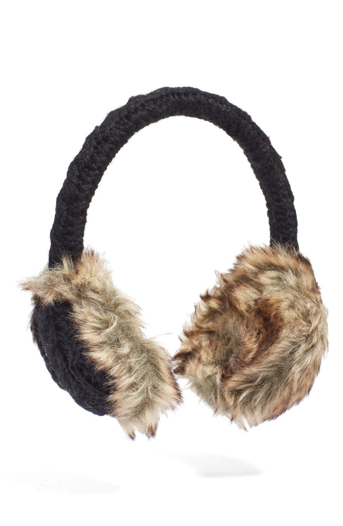 Cable Knit Earmuffs,                         Main,                         color,