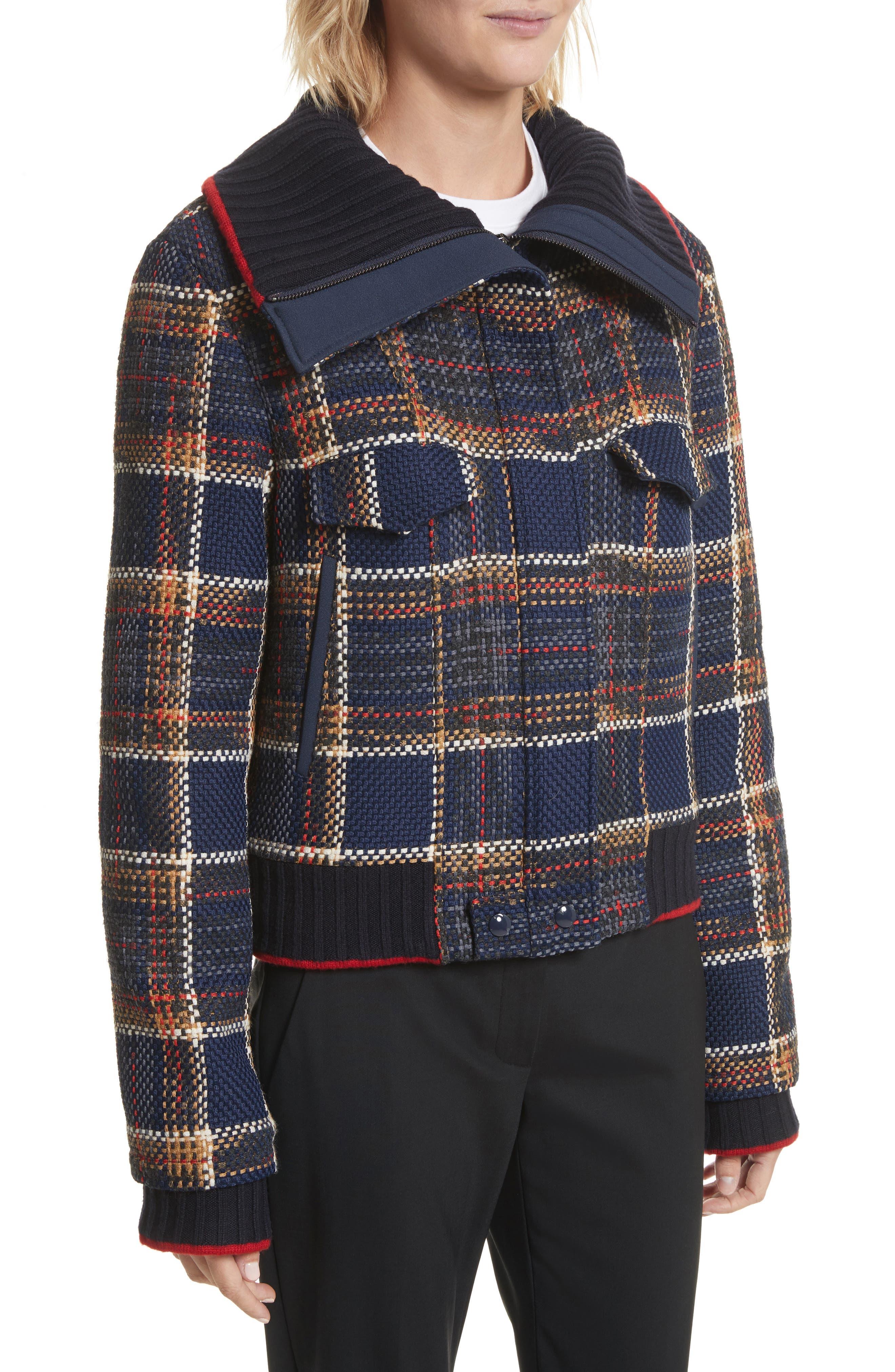 Crop Tweed Jacket,                             Alternate thumbnail 4, color,                             493