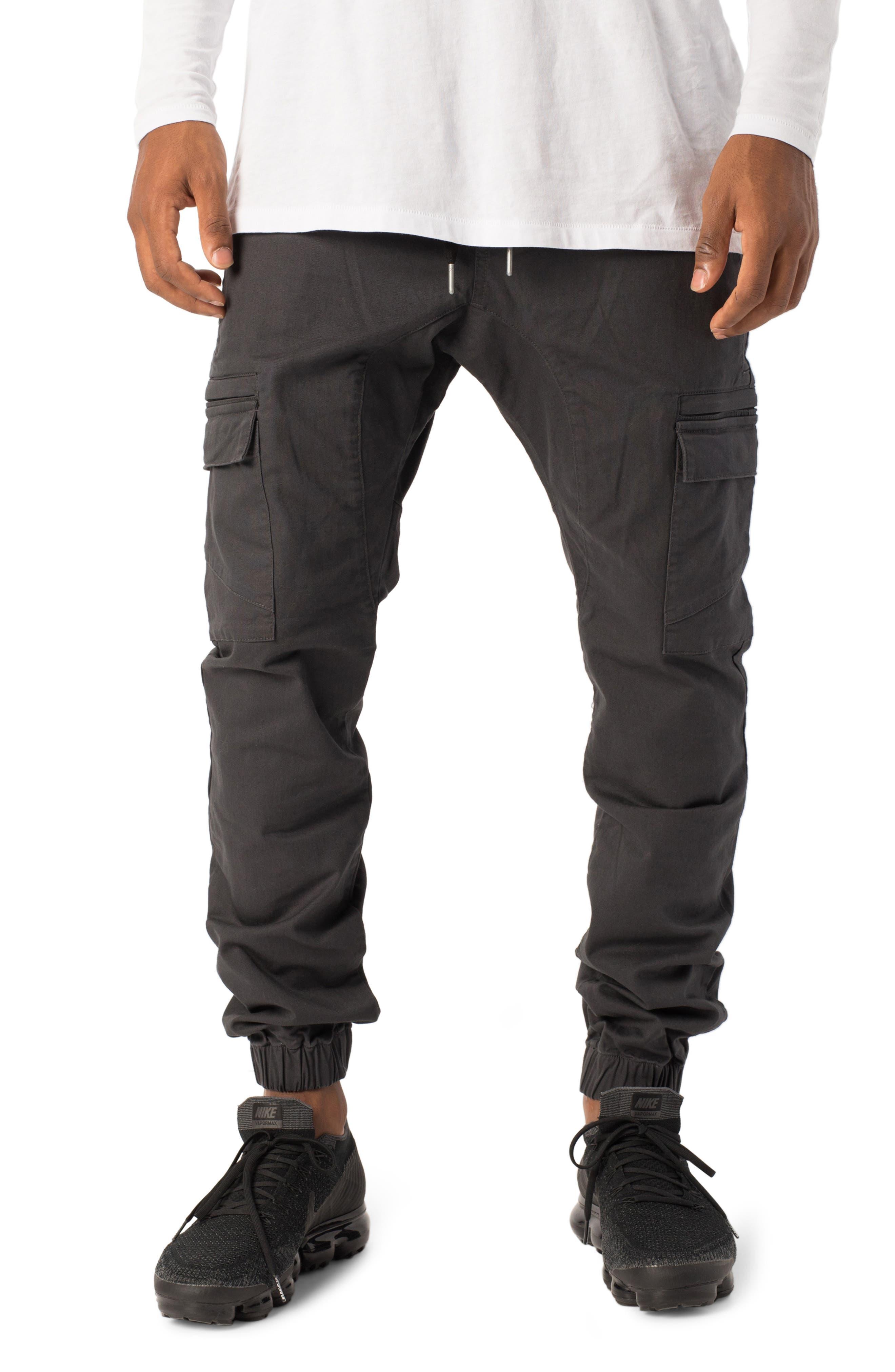 Zanerobe Sureshot Cargo Jogger Pants, Black