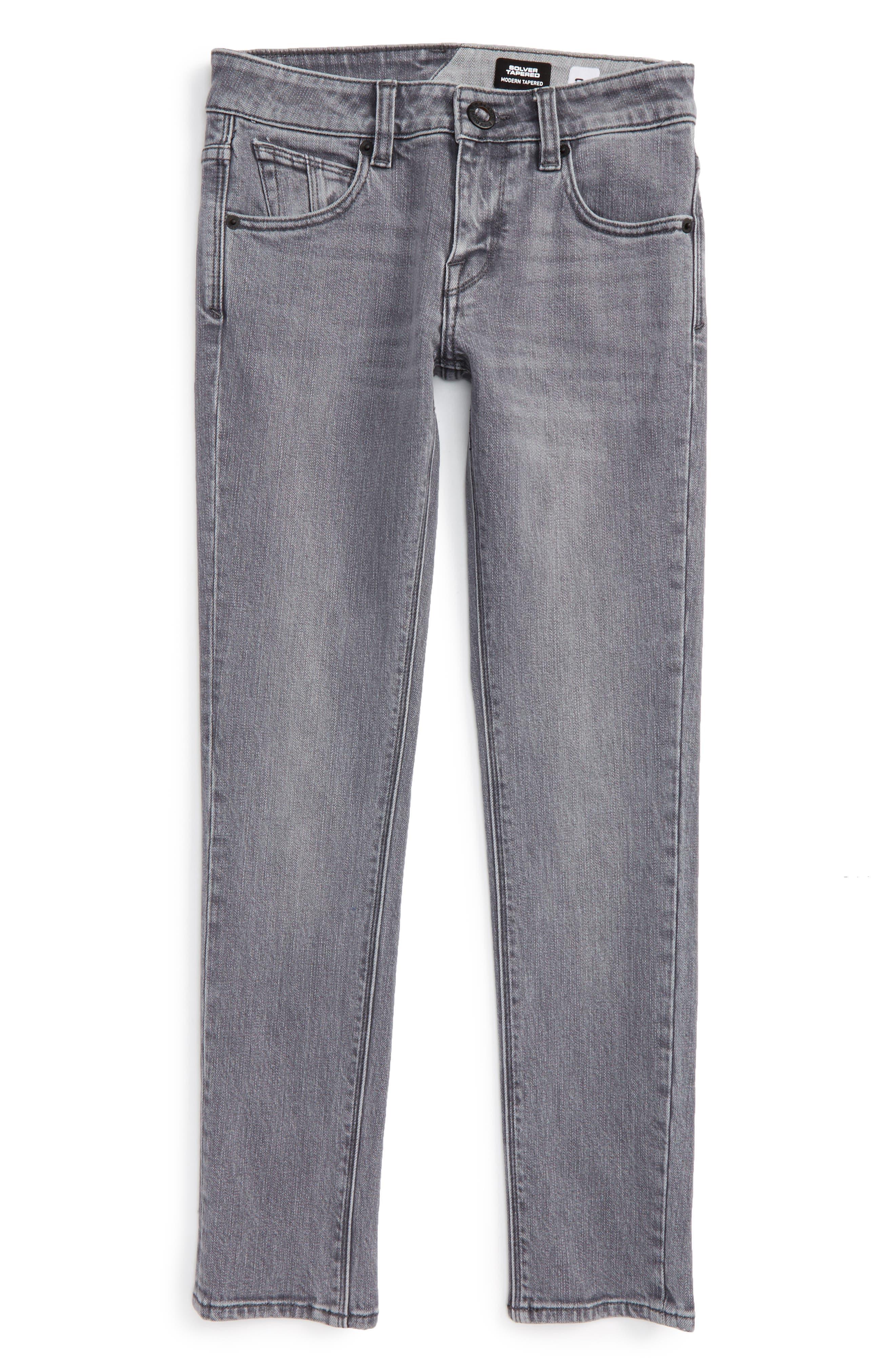 'Solver' Straight Leg Denim Jeans,                             Alternate thumbnail 8, color,