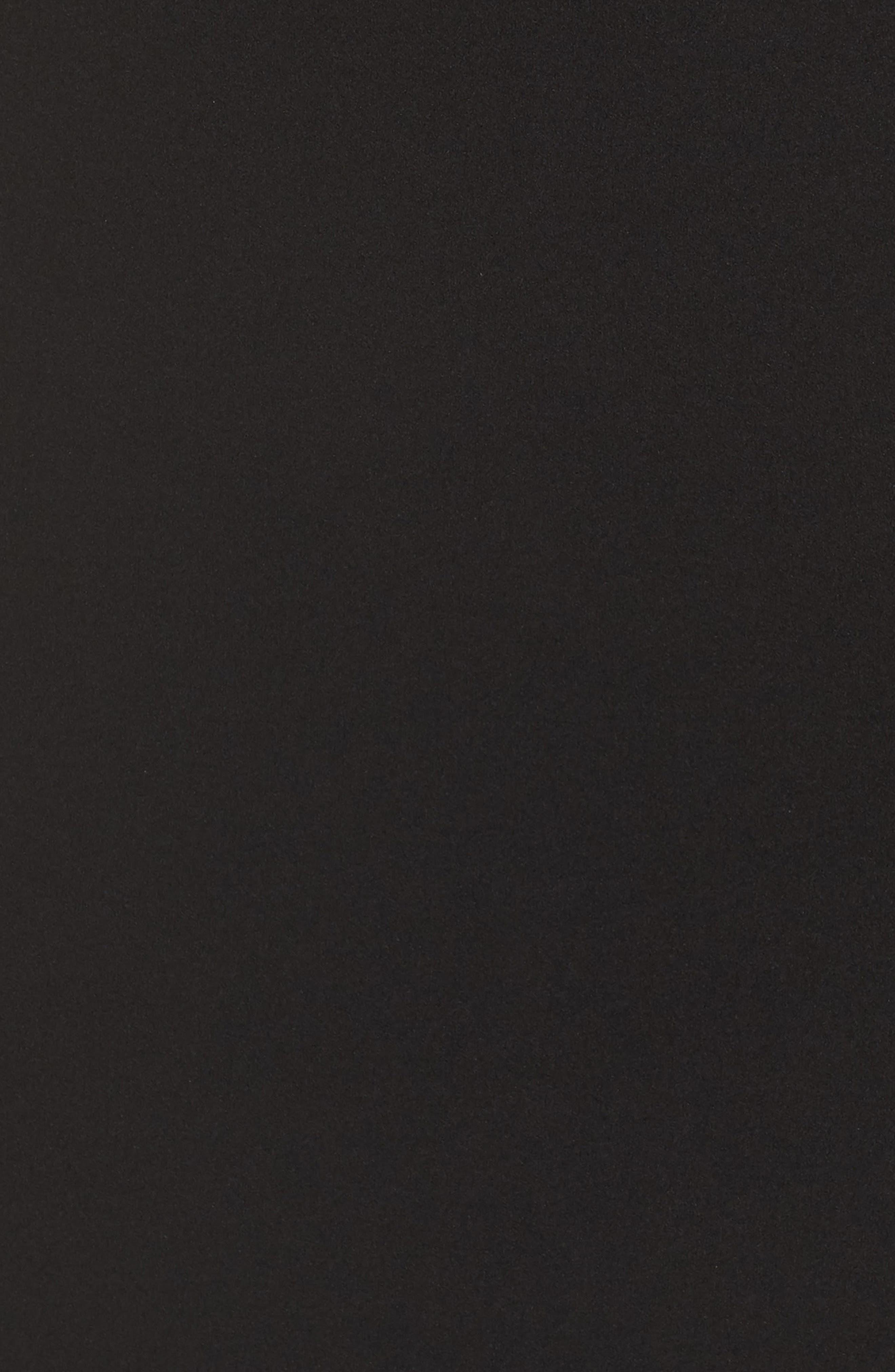 LULUS,                             Off the Shoulder Maxi Gown,                             Alternate thumbnail 6, color,                             BLACK