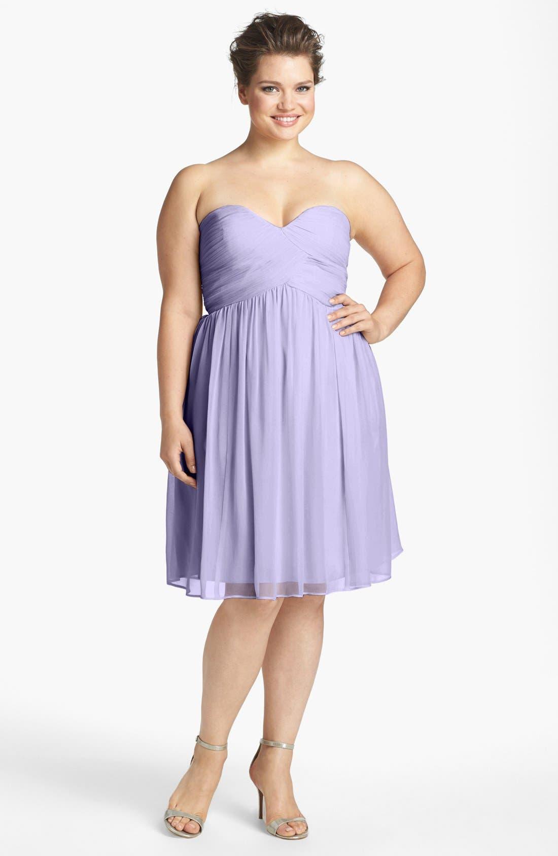 'Morgan' Strapless Silk Chiffon Dress,                             Alternate thumbnail 56, color,
