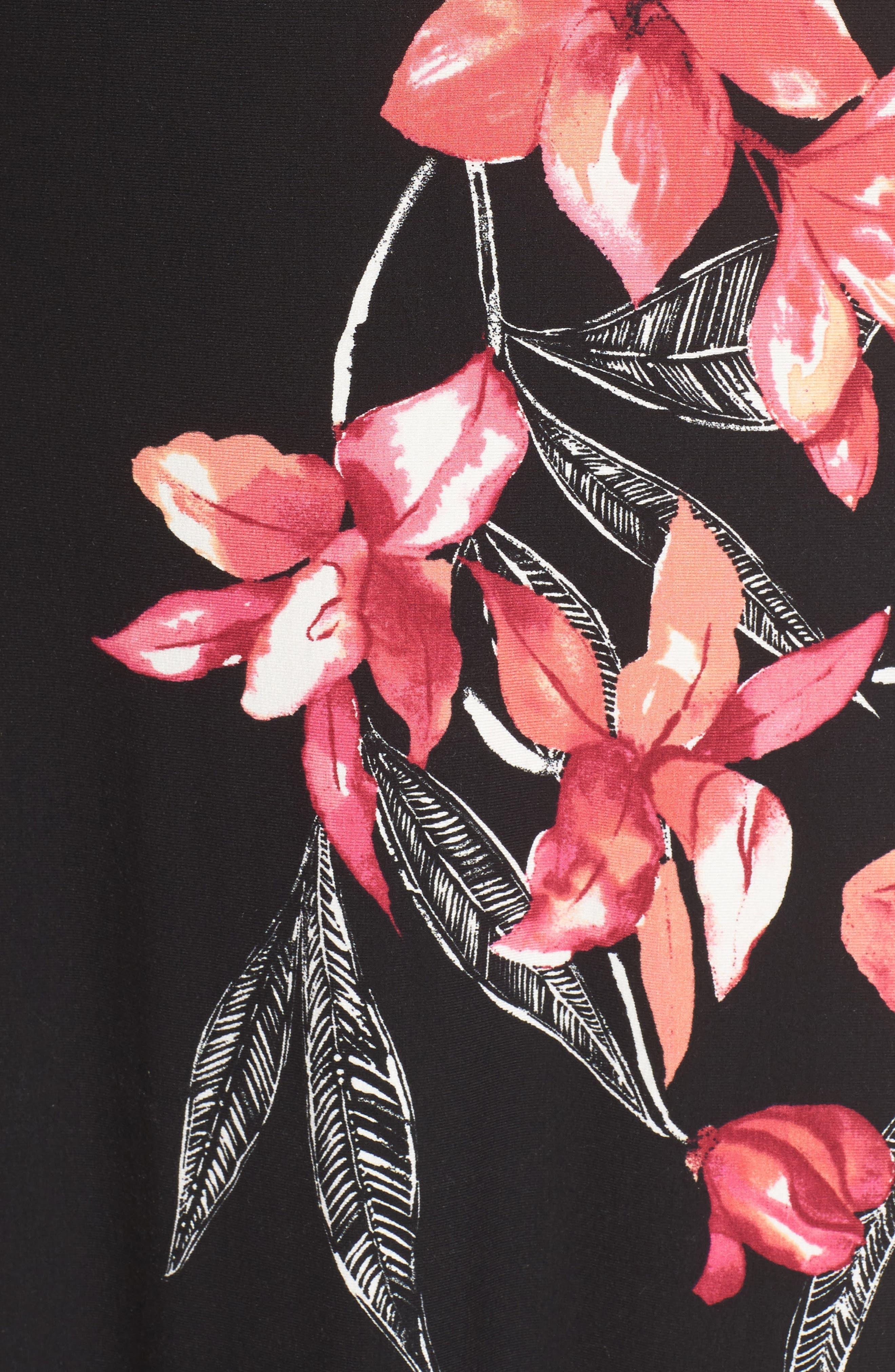 Bedoin Blossoms Maxi Dress,                             Alternate thumbnail 5, color,                             001